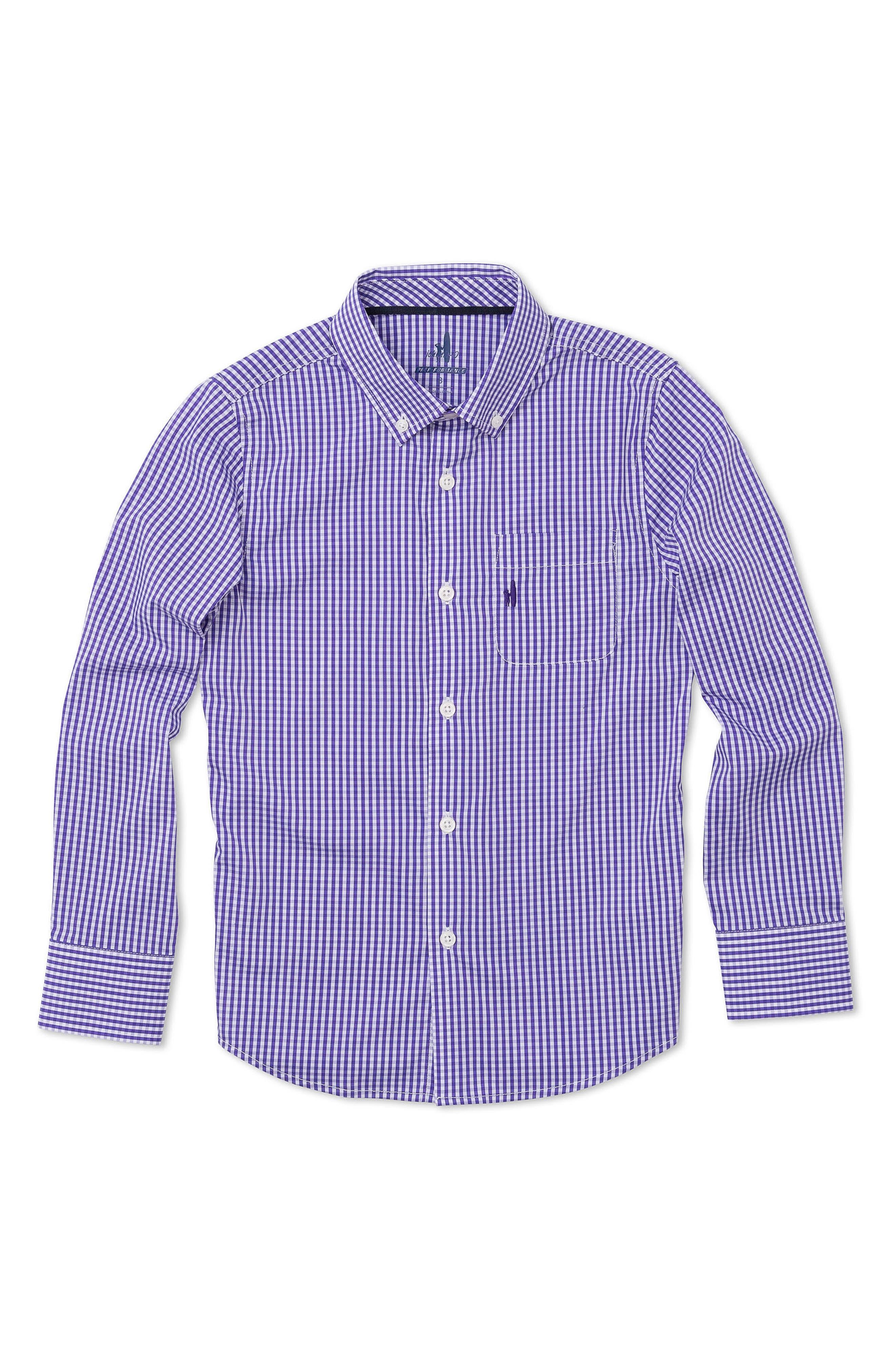 Johnnie-O Augusta Jr. Gingham Dress Shirt (Little Boys & Big Boys)