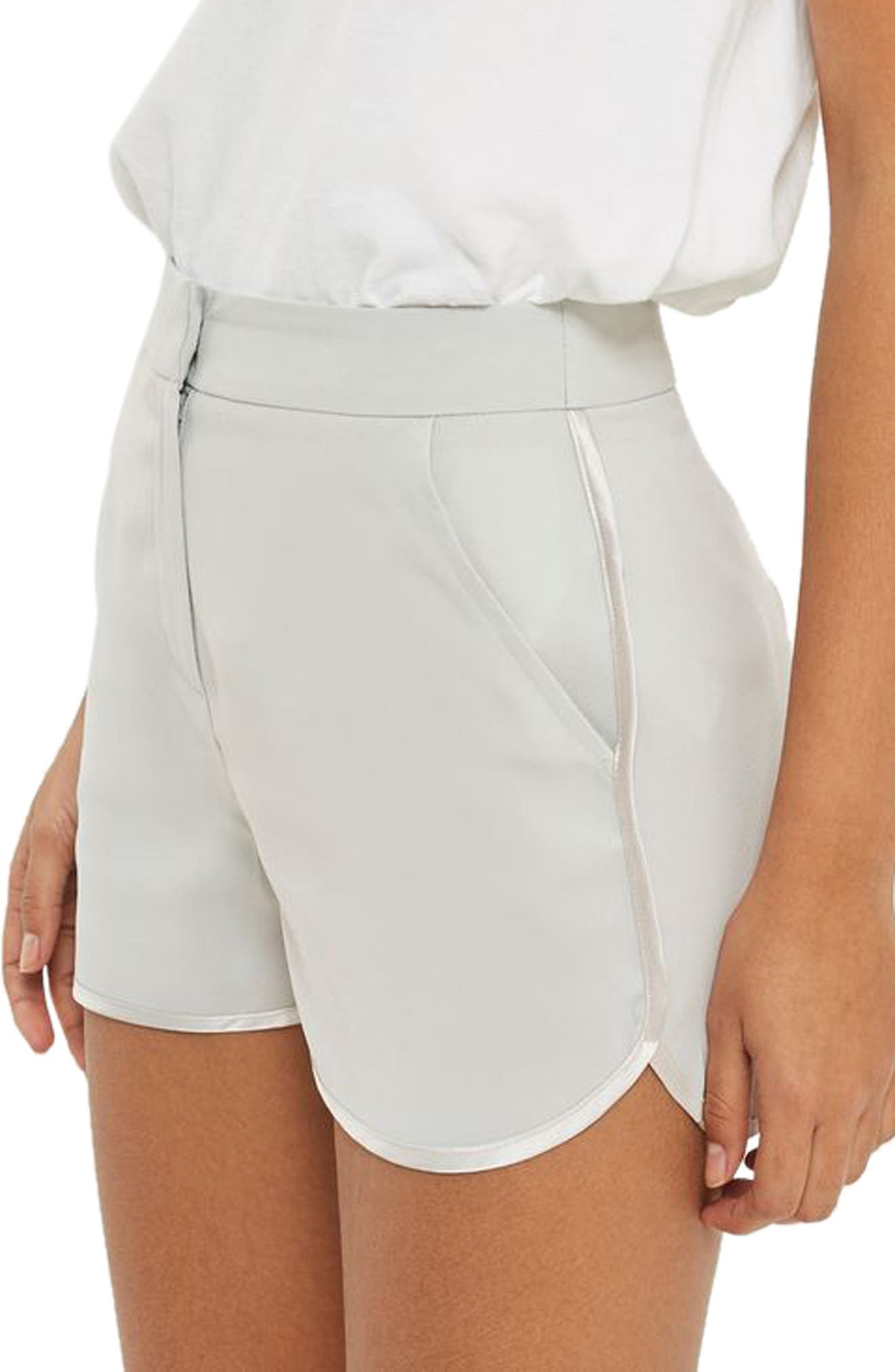 Topshop Satin Trim Runner Shorts