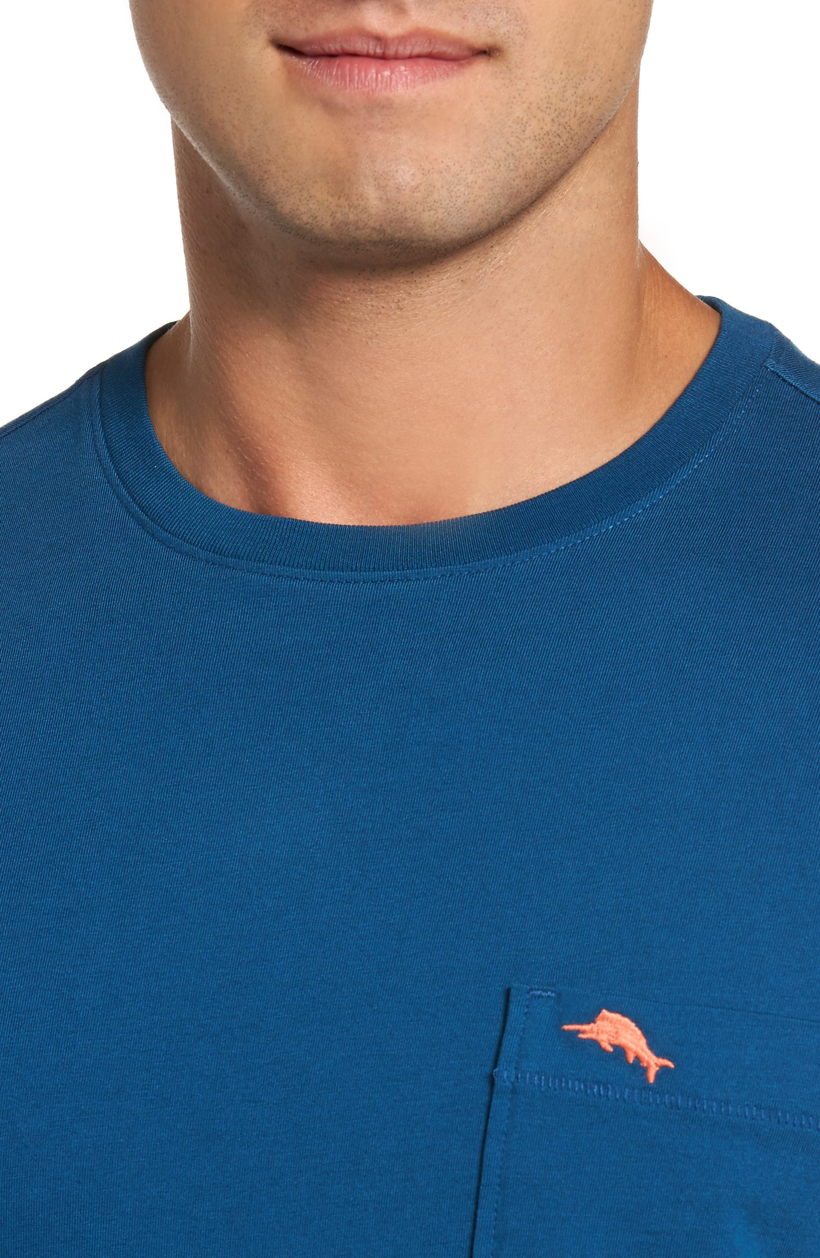 Alternate Image 4  - Tommy Bahama 'Bali Skyline' Long Sleeve Pima Cotton T-Shirt (Big & Tall)