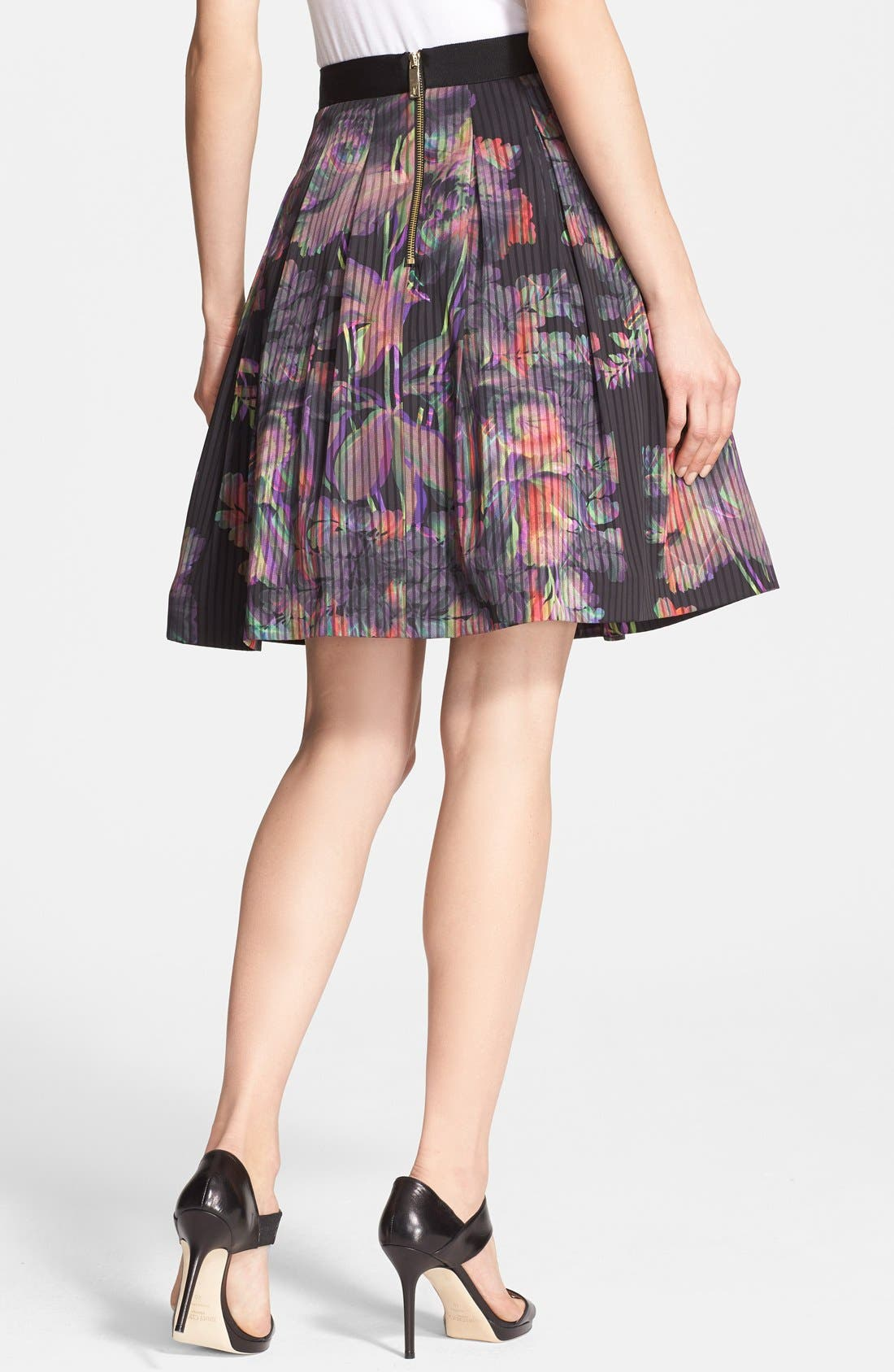 Alternate Image 2  - Ted Baker London 'Jadzia Holographic Halftone' Print A-Line Skirt