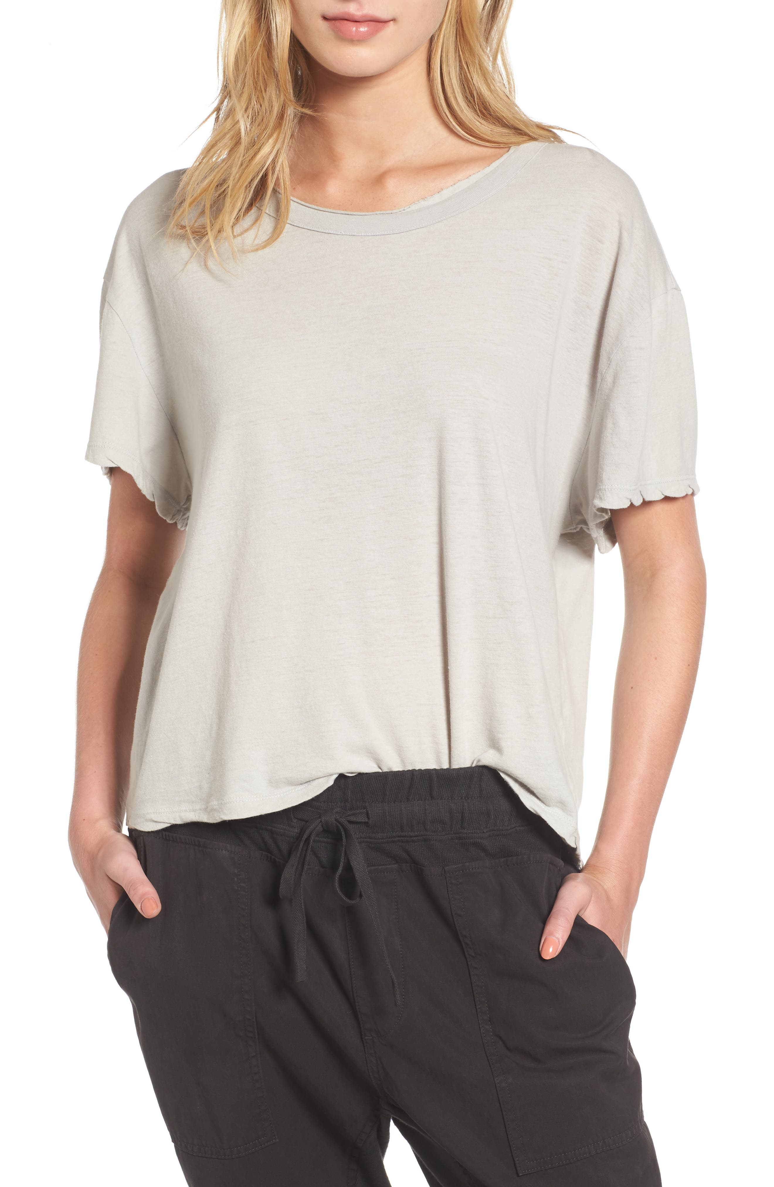 James Perse Crop Boxy Tee