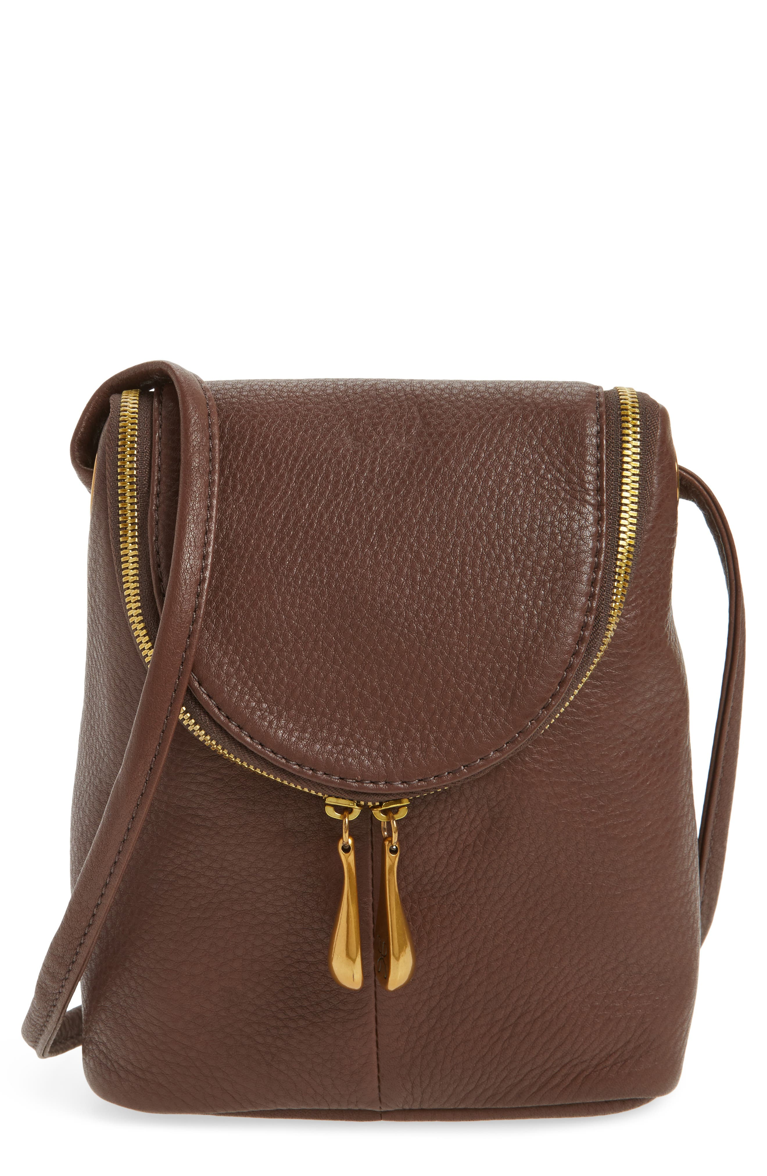 Hobo Fern Calfskin Leather Saddle Bag