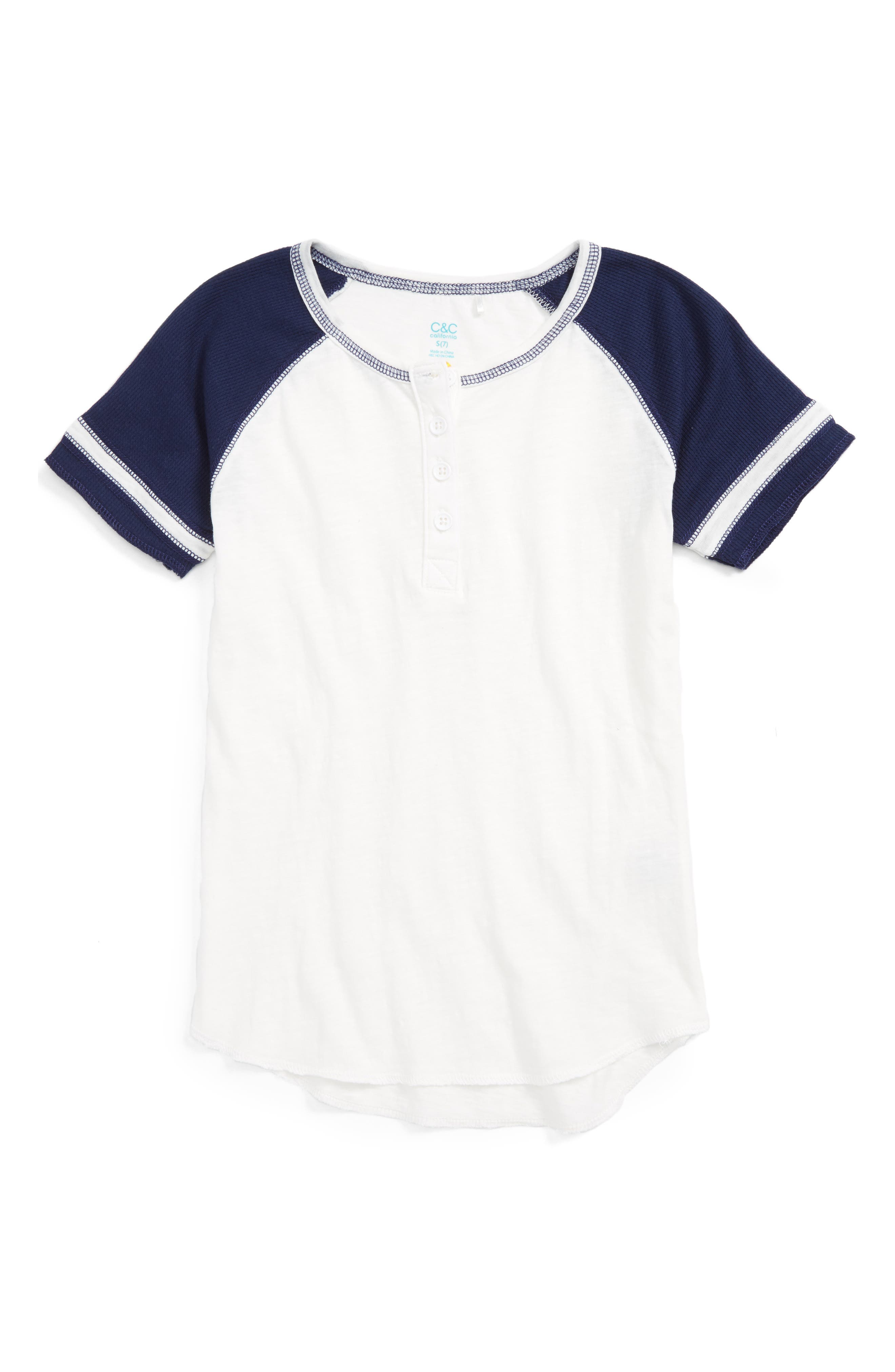 C & C California Henley Tee (Big Girls)