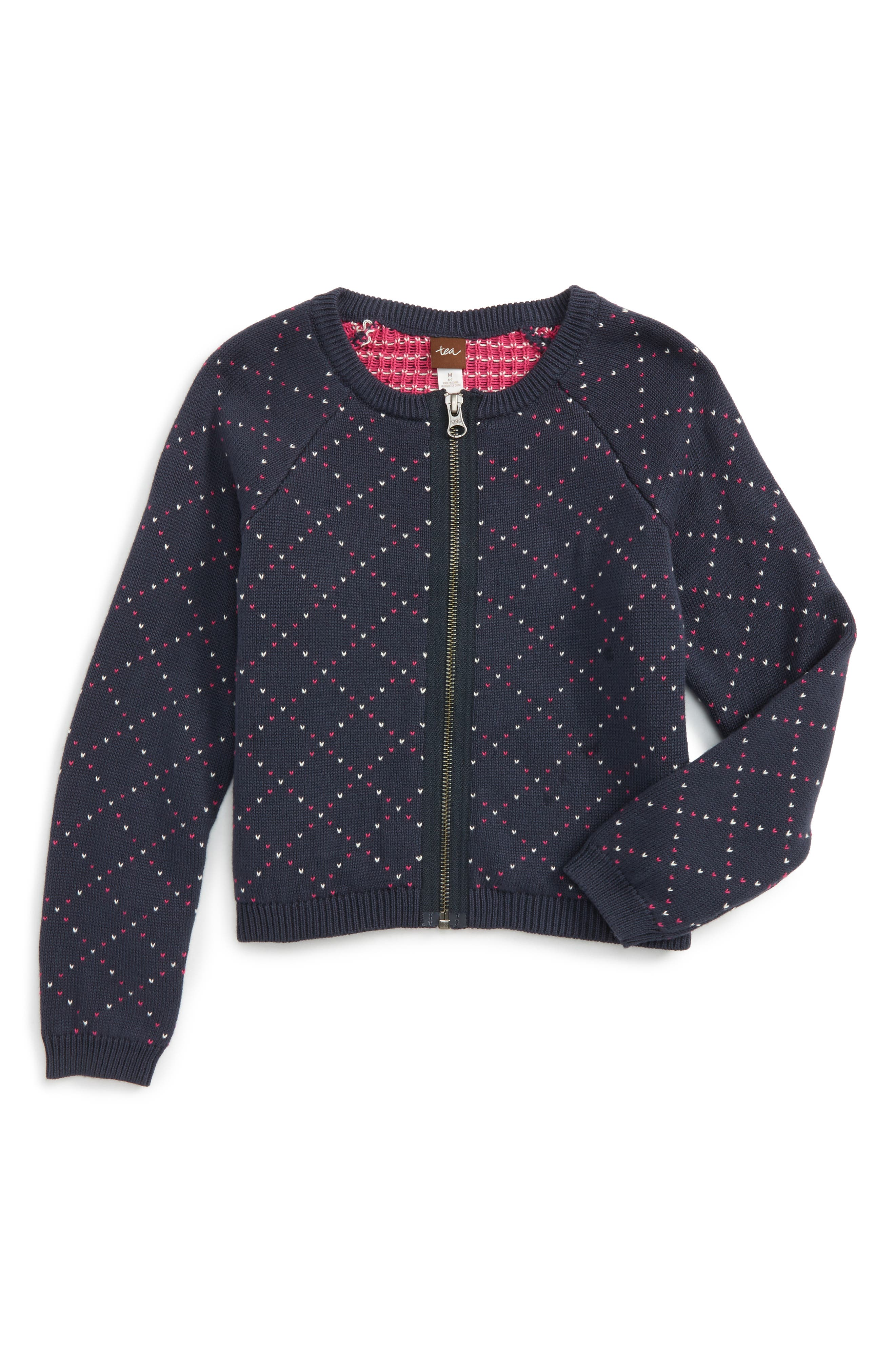 Tea Collection Alyth Zip Cardigan (Toddler Girls, Little Girls & Big Girls)