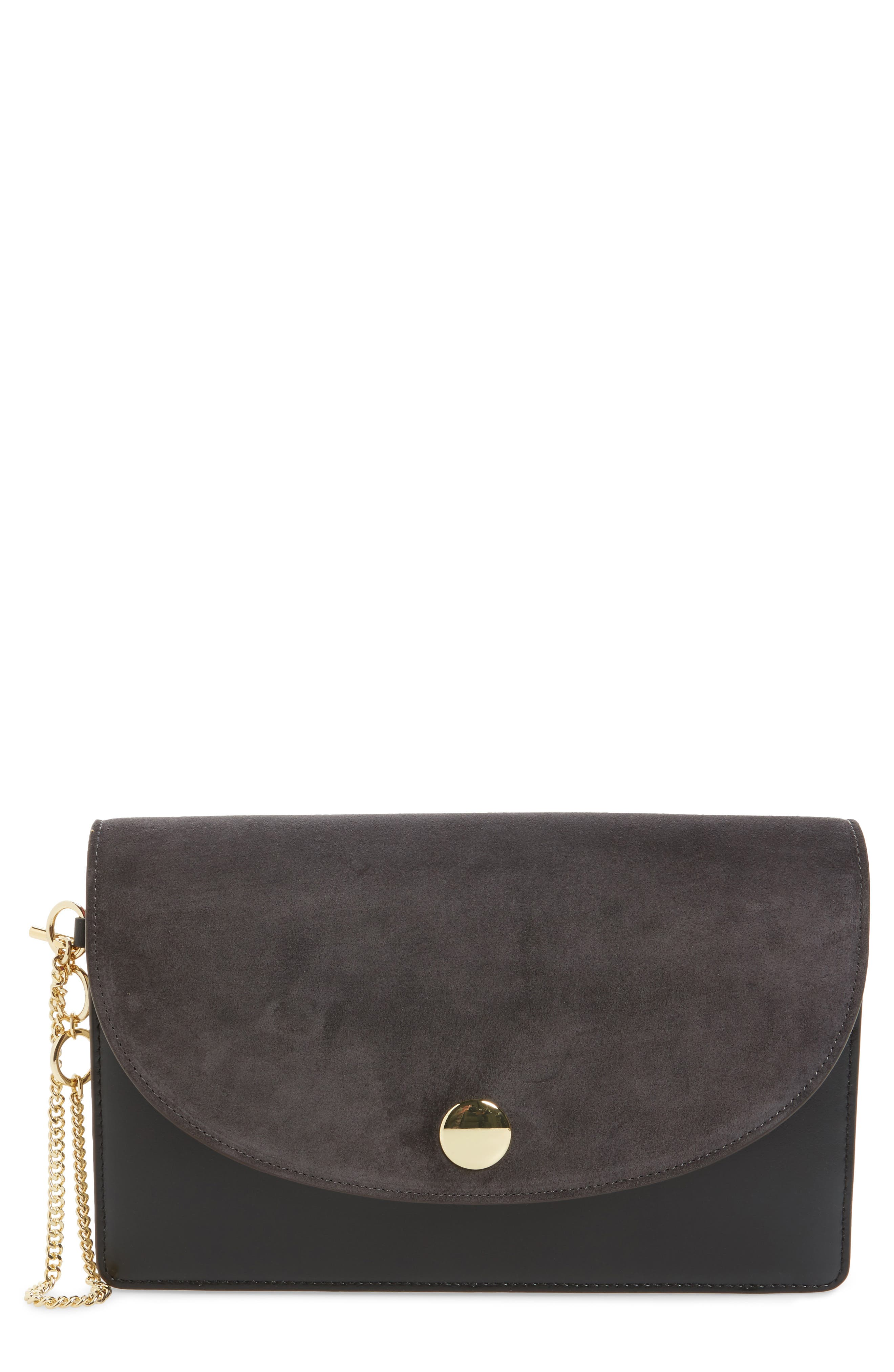 Diane von Furstenberg Convertible Leather Saddle Clutch