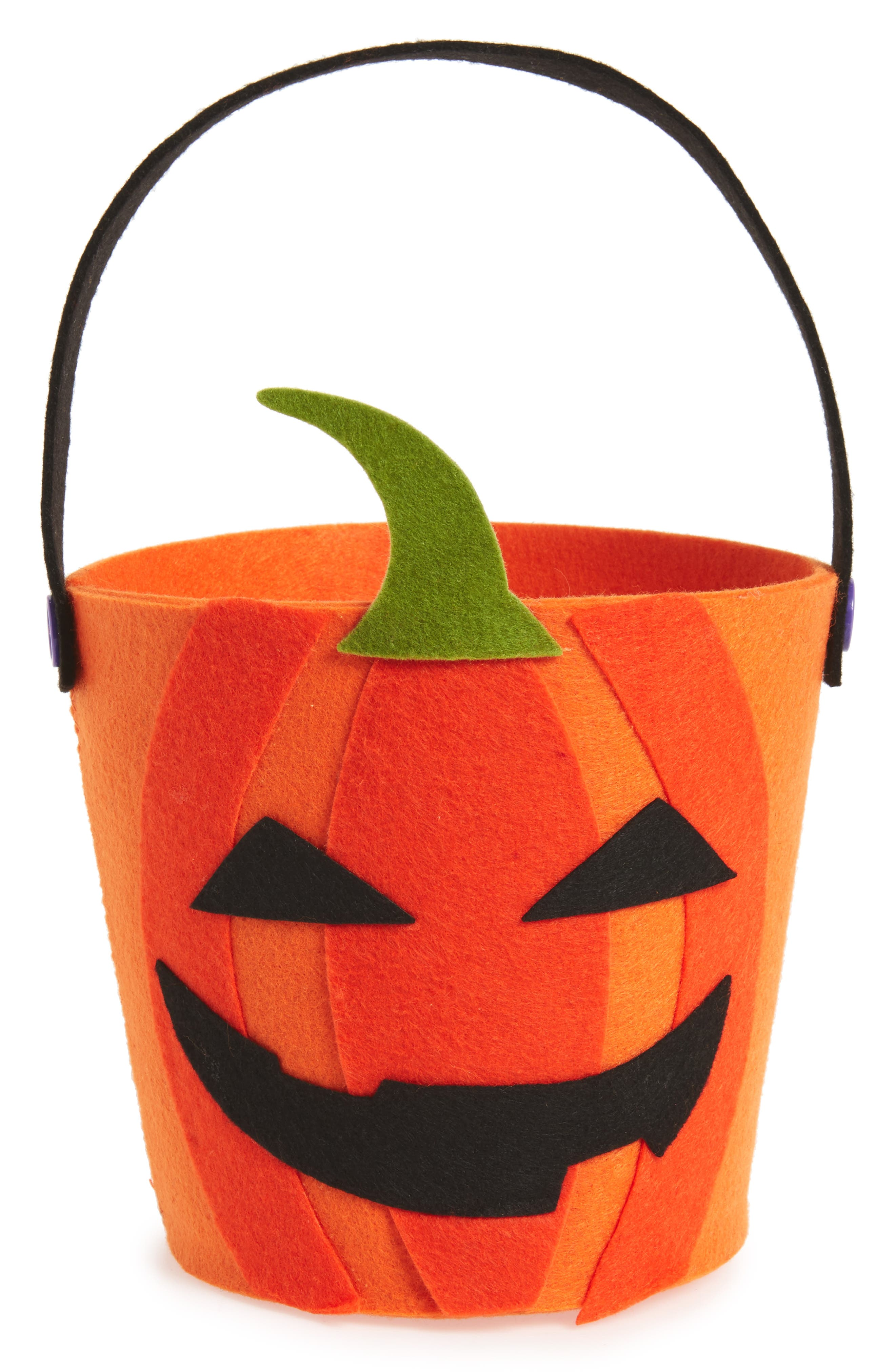 Design Imports Jack O' Lantern Felt Candy Bag