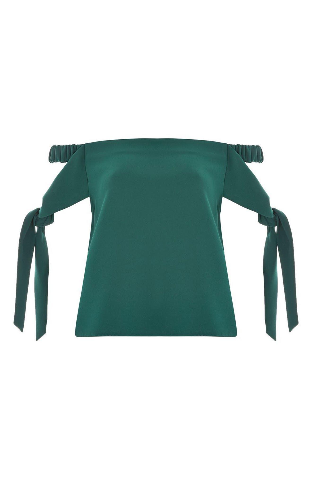 Topshop Bardot Tie Sleeve Top
