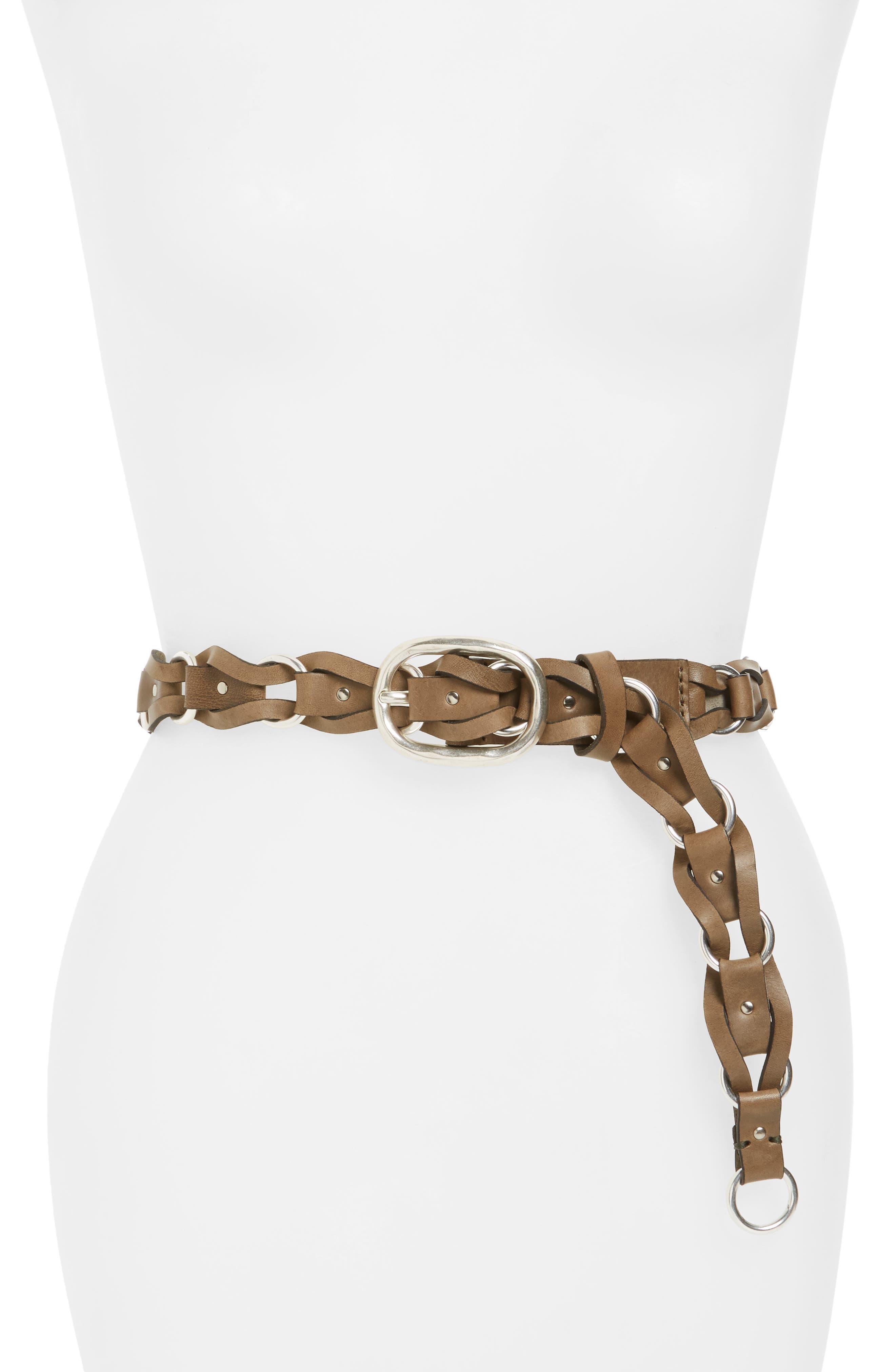 rag & bone Mason Woven Leather Belt