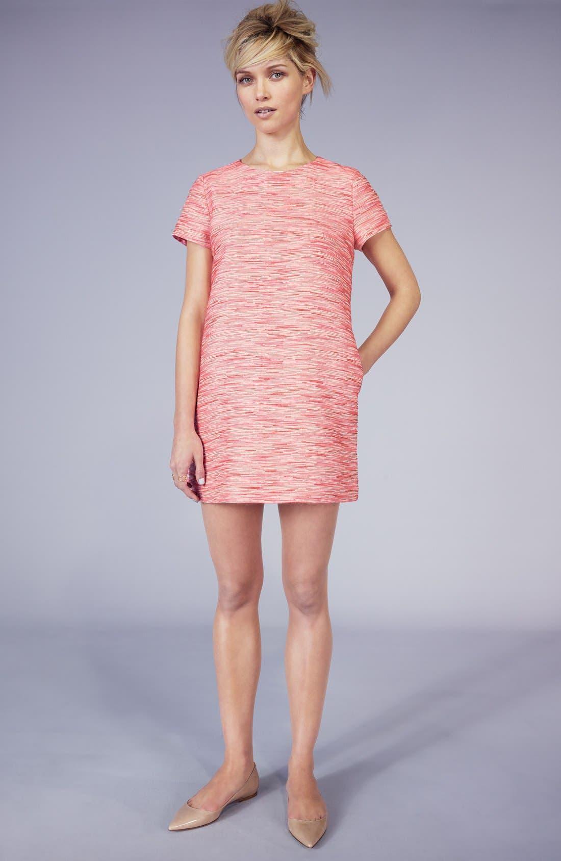 Alternate Image 6  - CeCe by Cynthia Steffe Jacquard Shift Minidress (Regular & Petite)