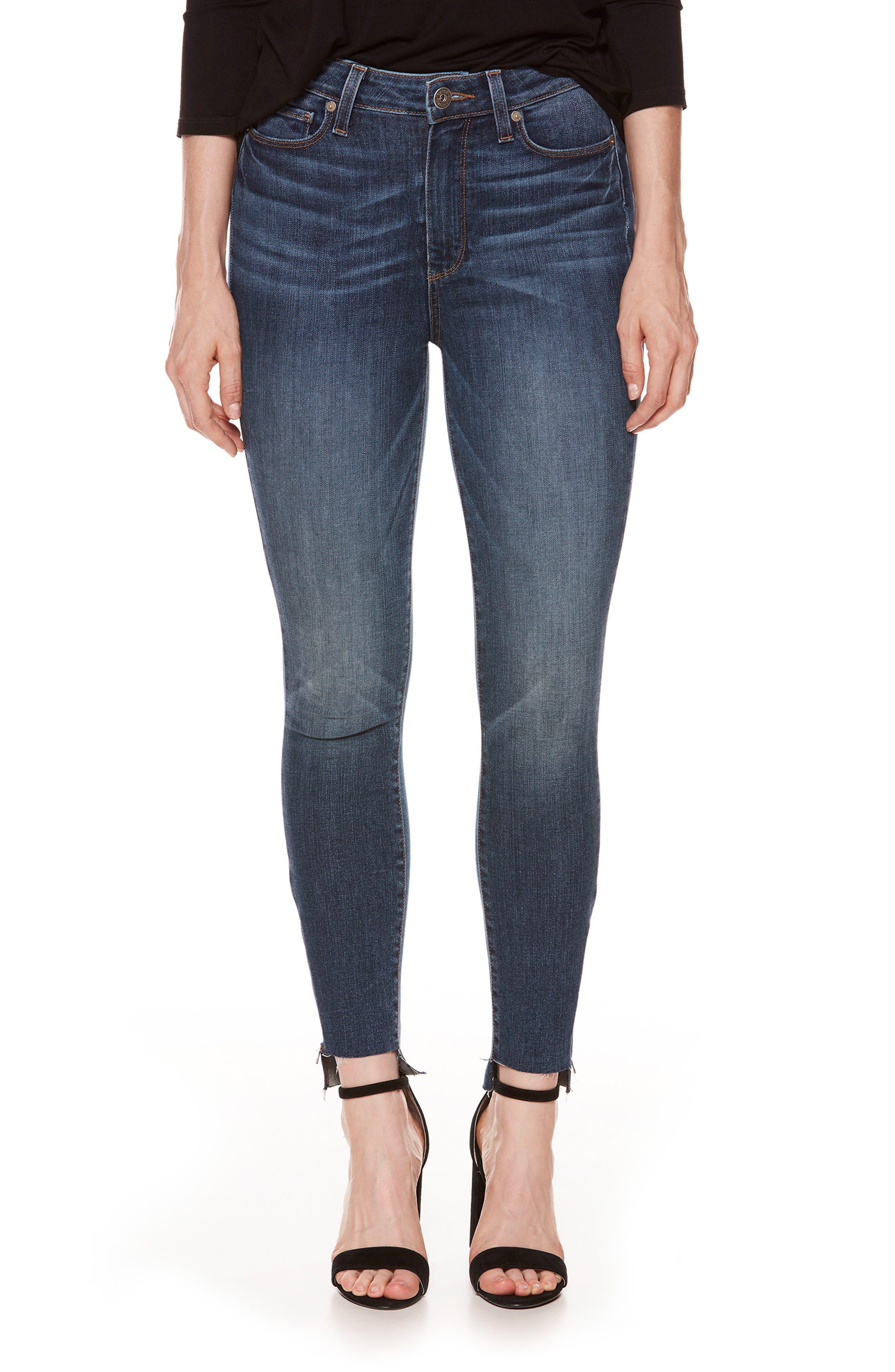 PAIGE Margot High Waist Zip Skinny Jeans (Westminster)