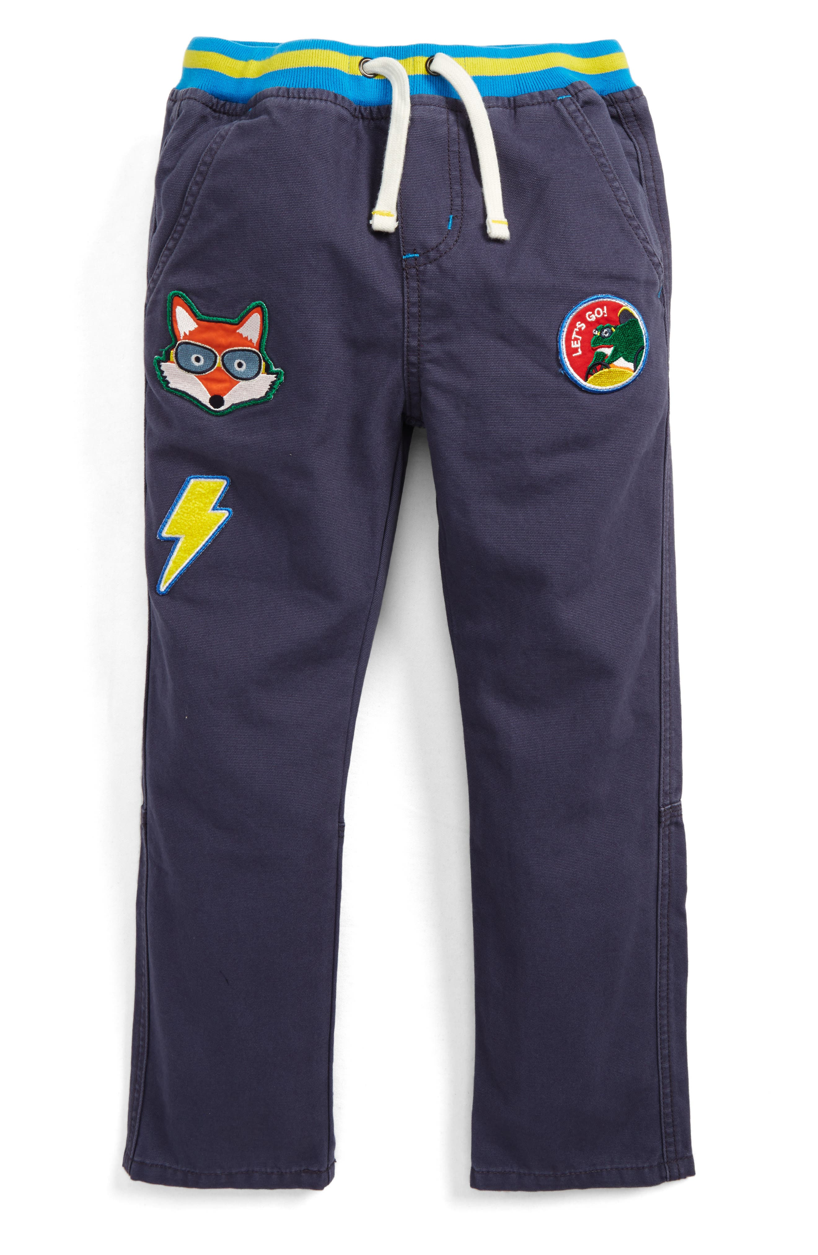 Mini Boden Pull-On Canvas Pants (Toddler Boys, Little Boys & Big Boys)