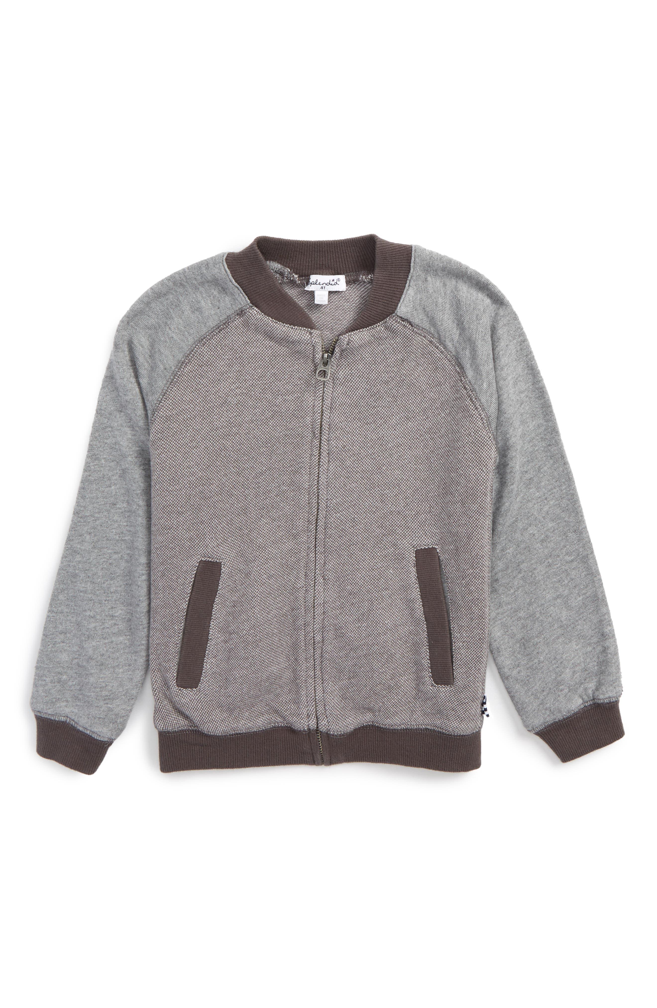 Splendid Birdseye Knit Jacket (Toddler Boys & Little Boys)