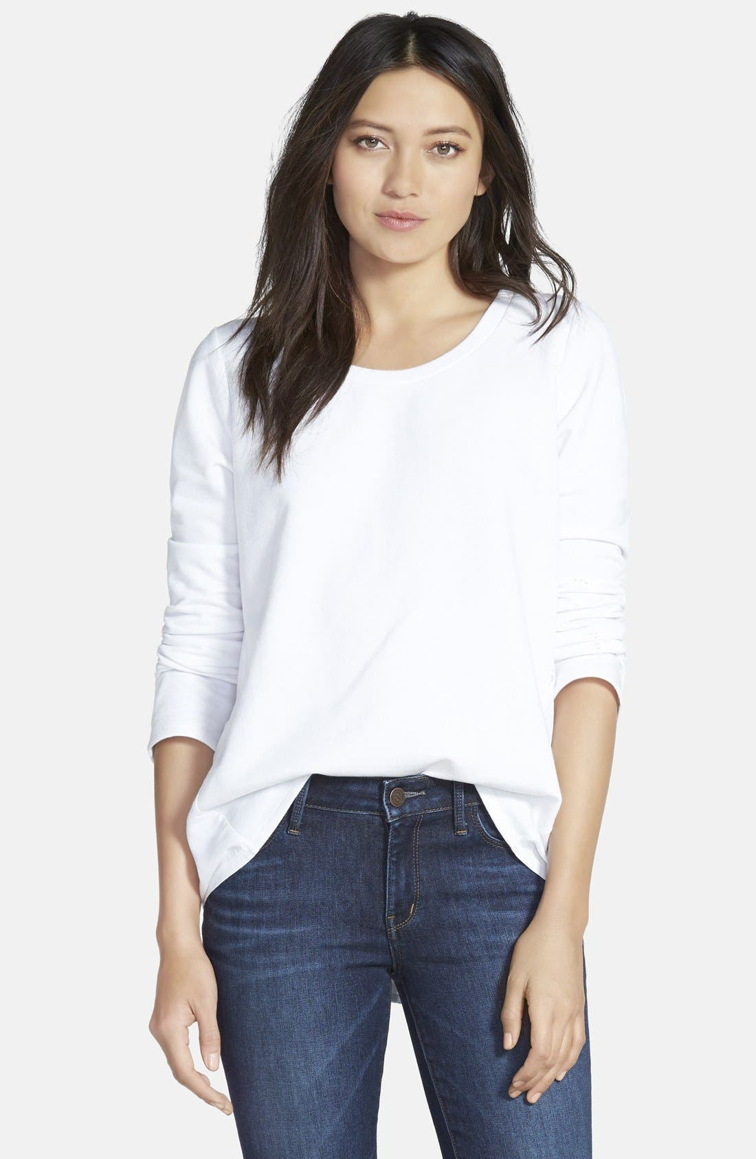 Alternate Image 1 Selected - Stem Woven Back Sweatshirt