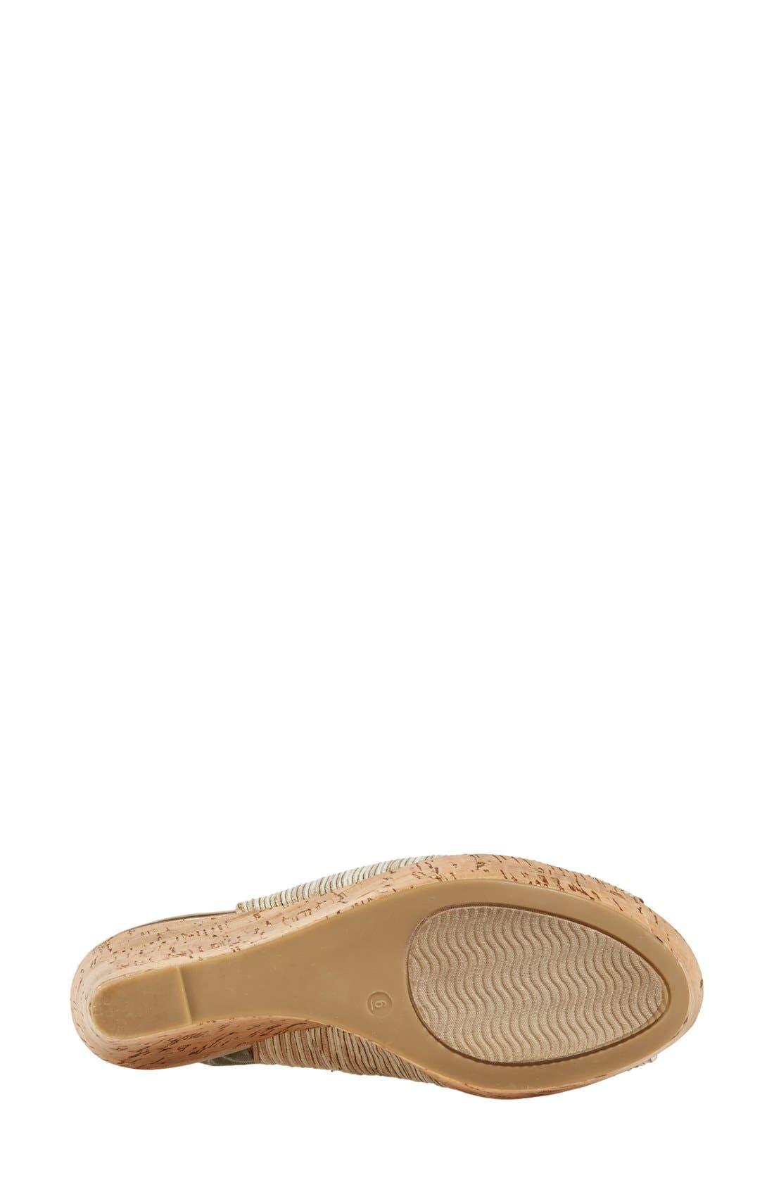 Alternate Image 4  - Pelle Moda 'Colby' Slingback Wedge Sandal (Women)