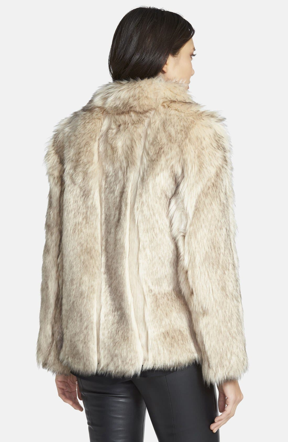 Alternate Image 2  - Topshop 'Leah' Faux Fur Coat