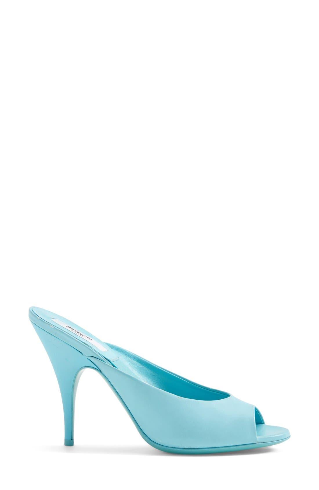 Alternate Image 4  - Moschino Peep Toe Leather Sandal (Women)