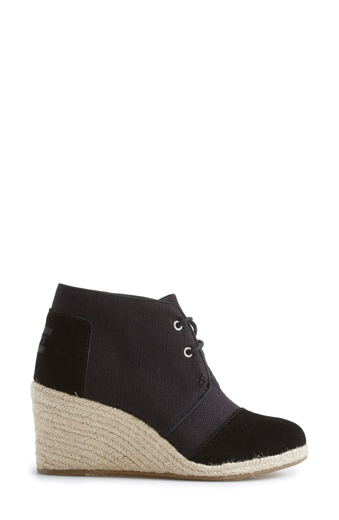 Alternate Image 5  - TOMS Burlap Suede Desert Wedge Bootie (Women)