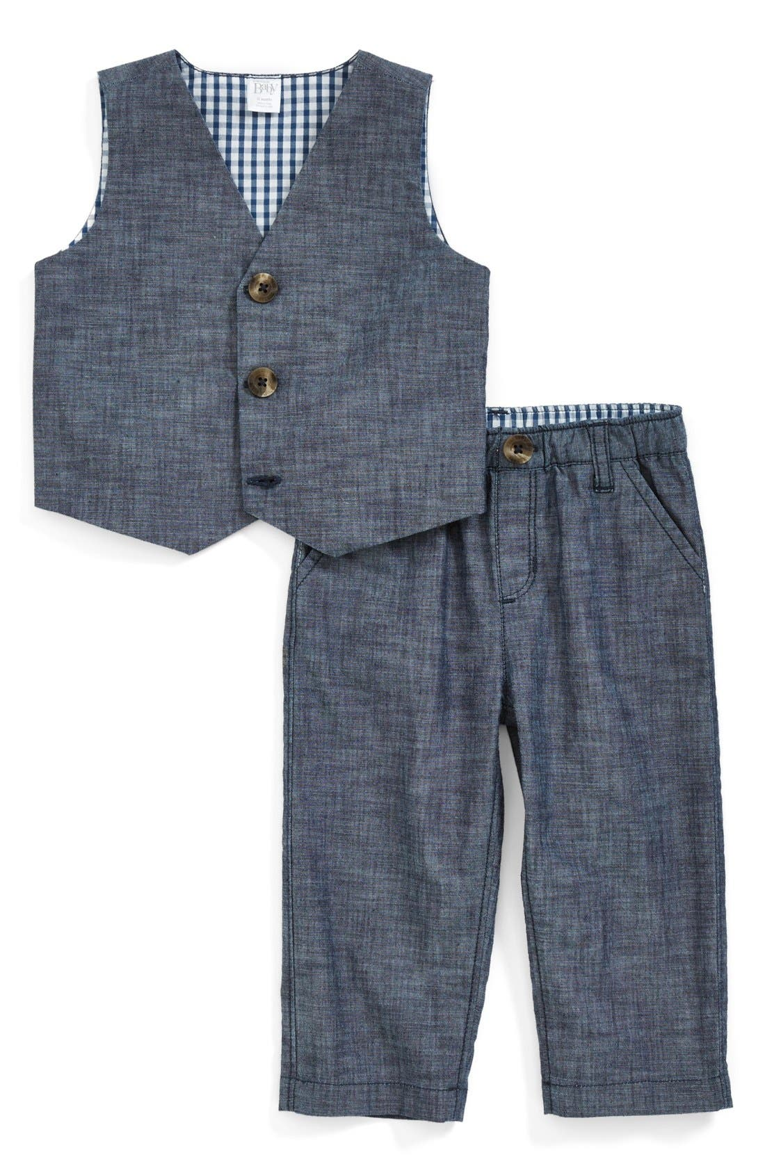 Nordstrom Baby Chambray Vest & Pants (Baby Boys)