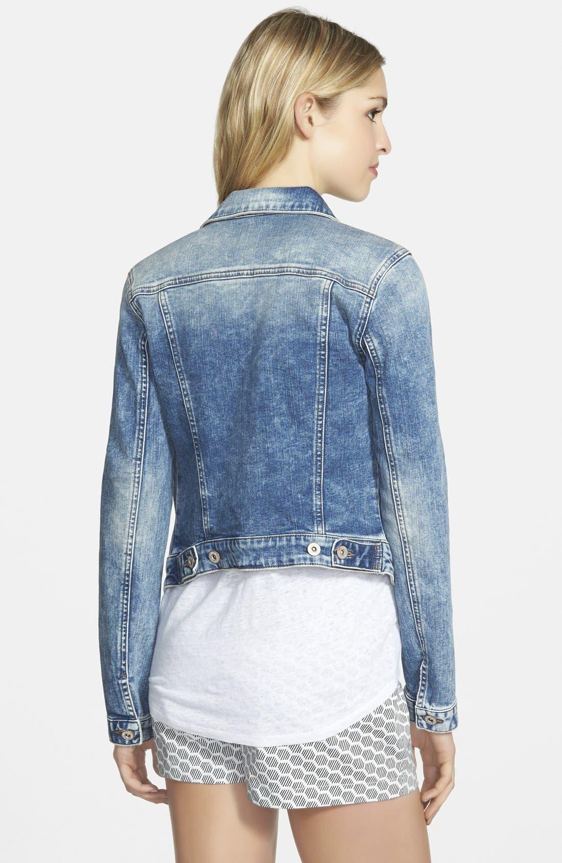 Alternate Image 2  - Mavi Jeans 'Samantha' Denim Jacket (Random Napoli)