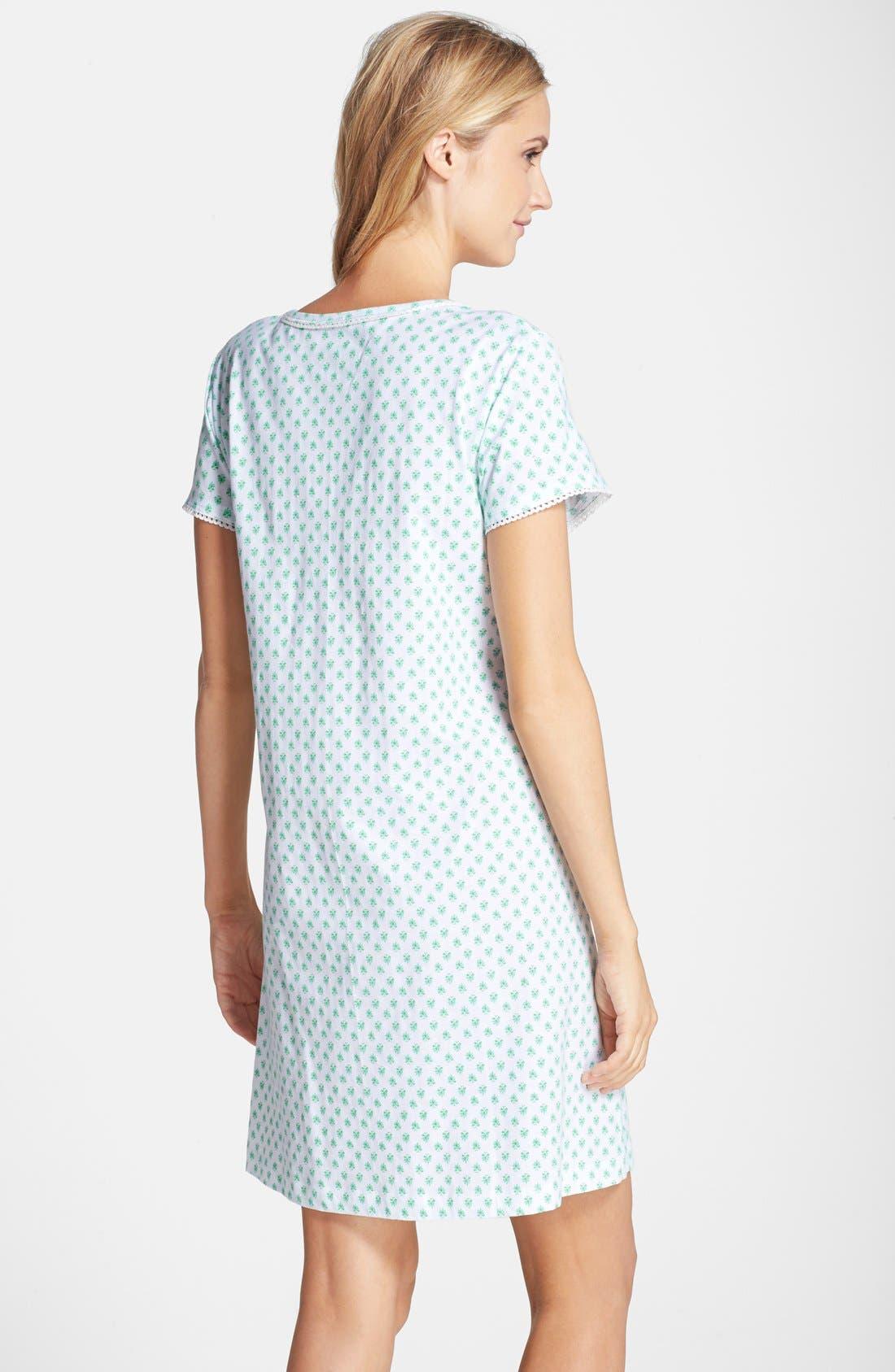 Alternate Image 2  - Carole Hochman Designs Print Cotton Jersey Sleep Shirt