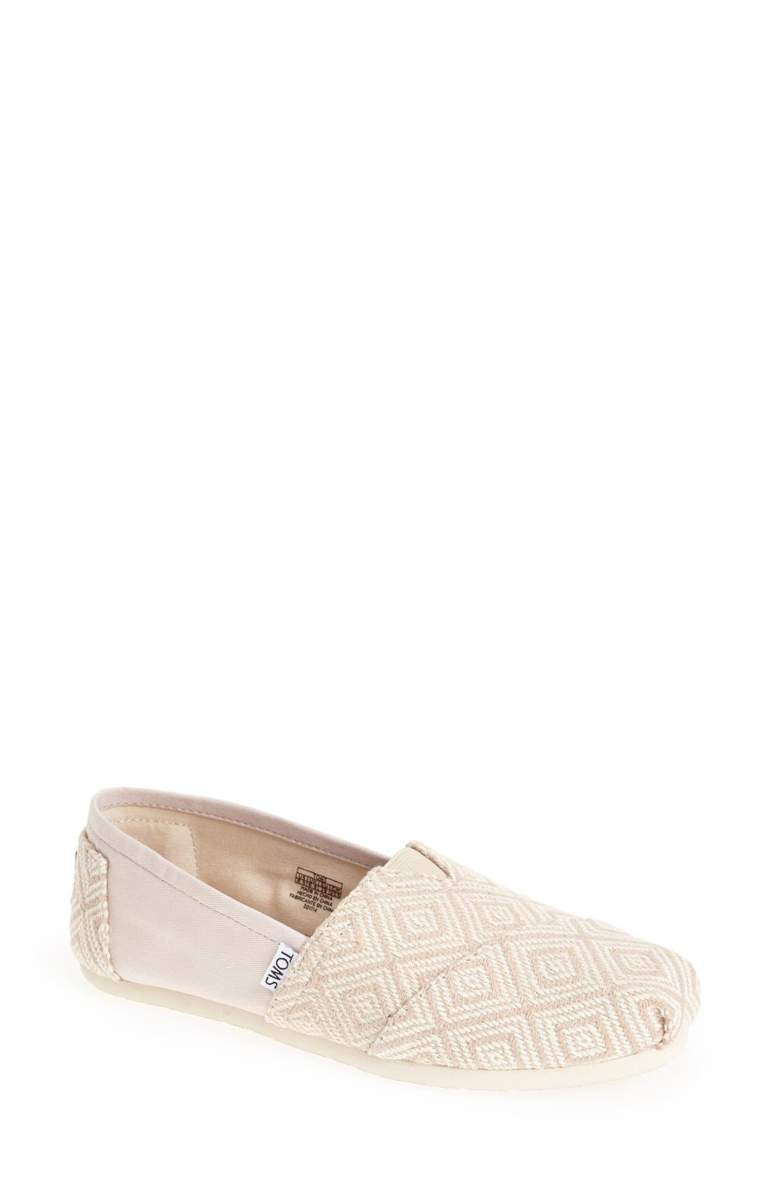 Alternate Image 1 Selected - TOMS 'Classic - Whisper Diamond' Woven Slip-On (Women)