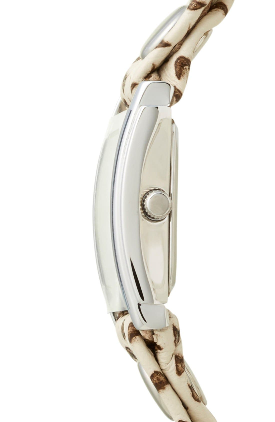 Alternate Image 3  - La Mer Collections Textured Leather Wrap Watch, 22mm