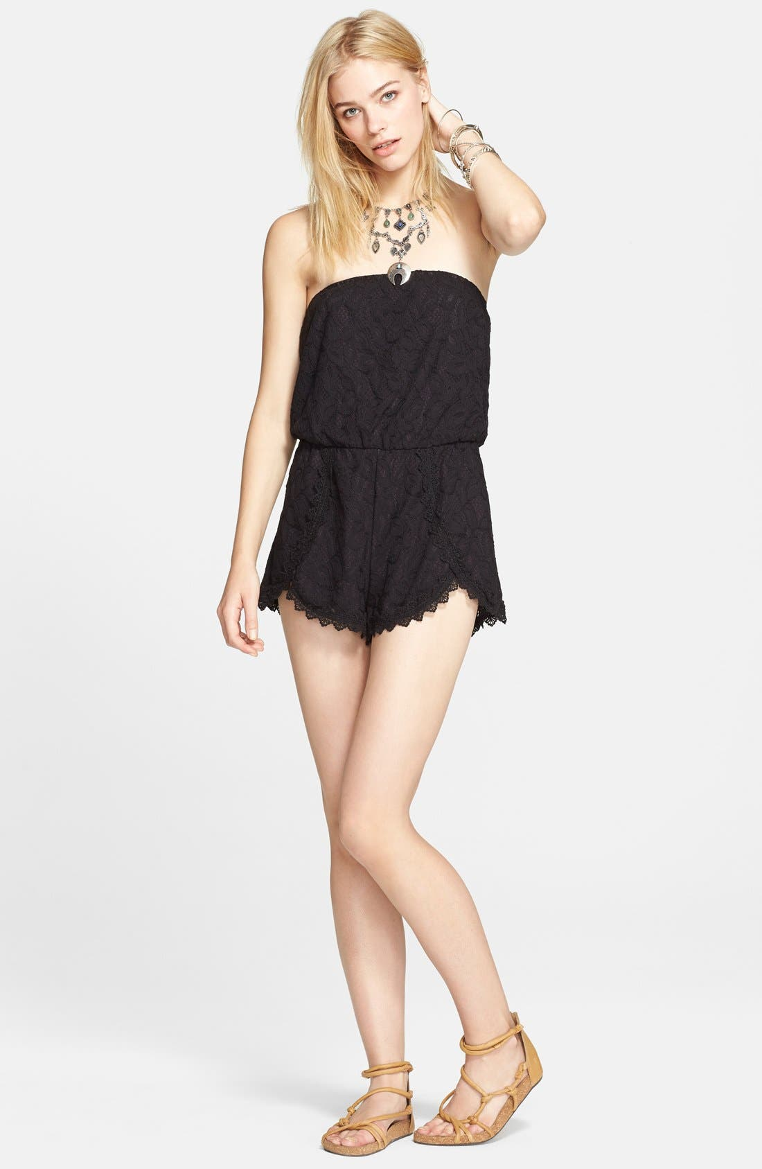 Alternate Image 3  - Free People 'Tahlia' Strapless Lace Romper