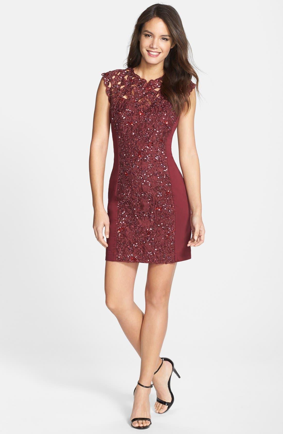Alternate Image 3  - French Connection Embellished Lace Sheath Dress