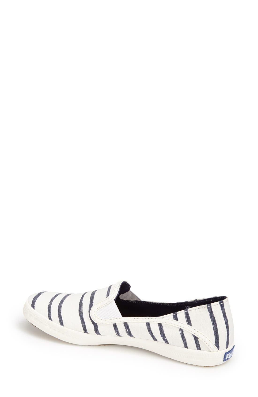 Alternate Image 2  - Keds® 'Crashback - Washed Beach Stripe' Slip-On Sneaker (Women)