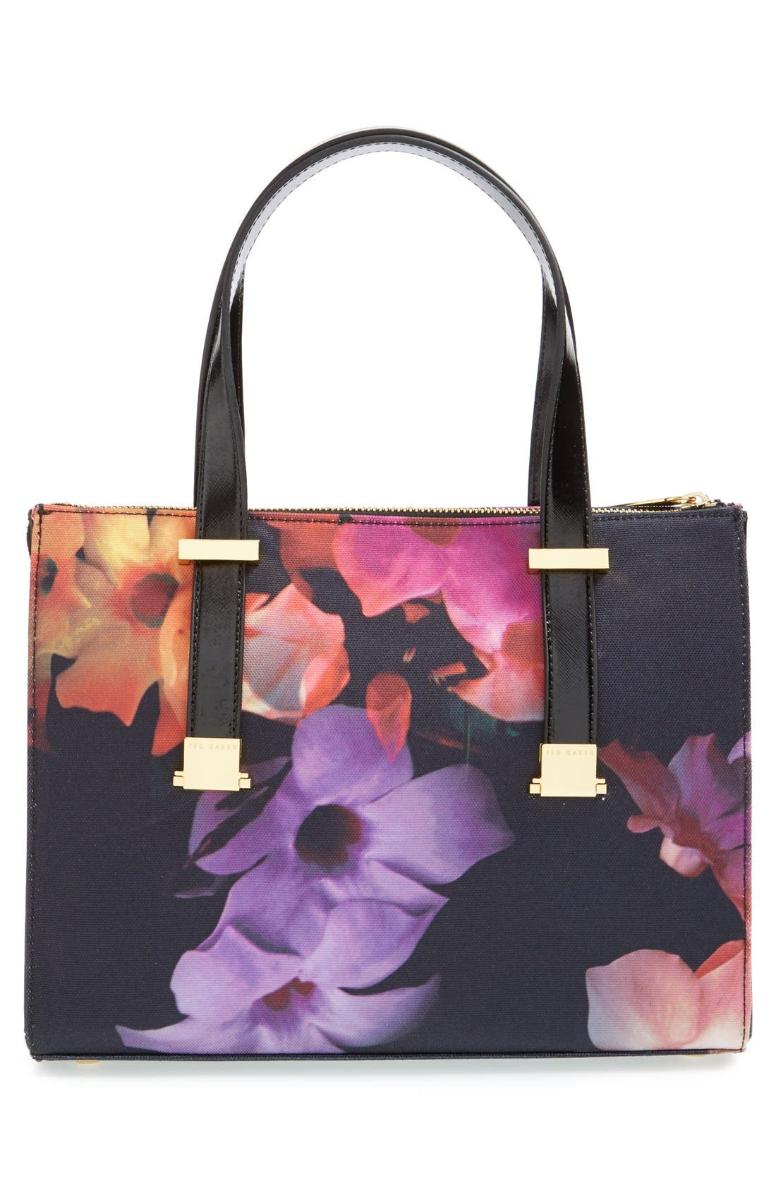 Alternate Image 3  - Ted Baker London 'Cascading Floral' Canvas Shopper