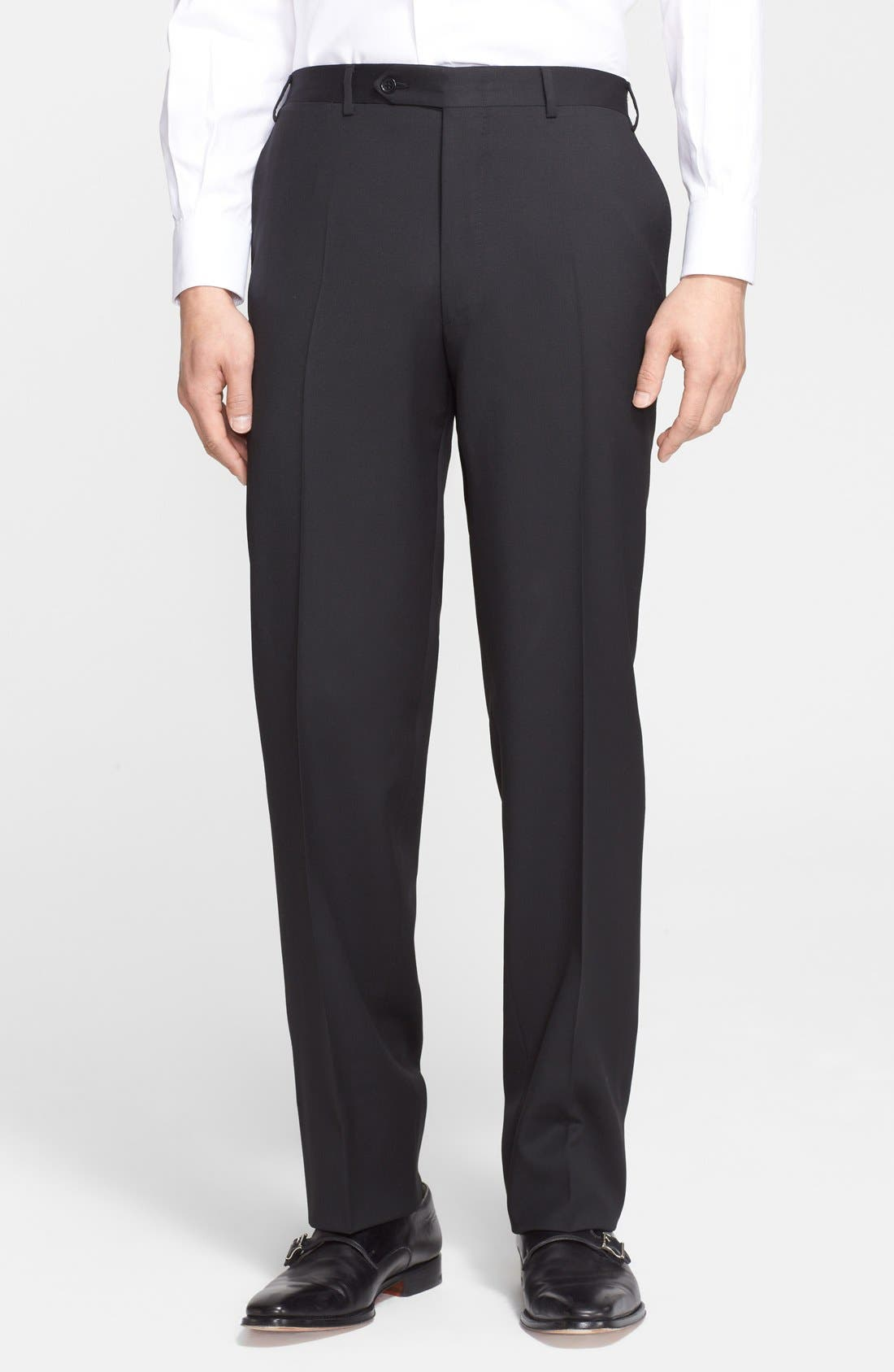 Alternate Image 5  - Canali Trim Fit Solid Wool Suit