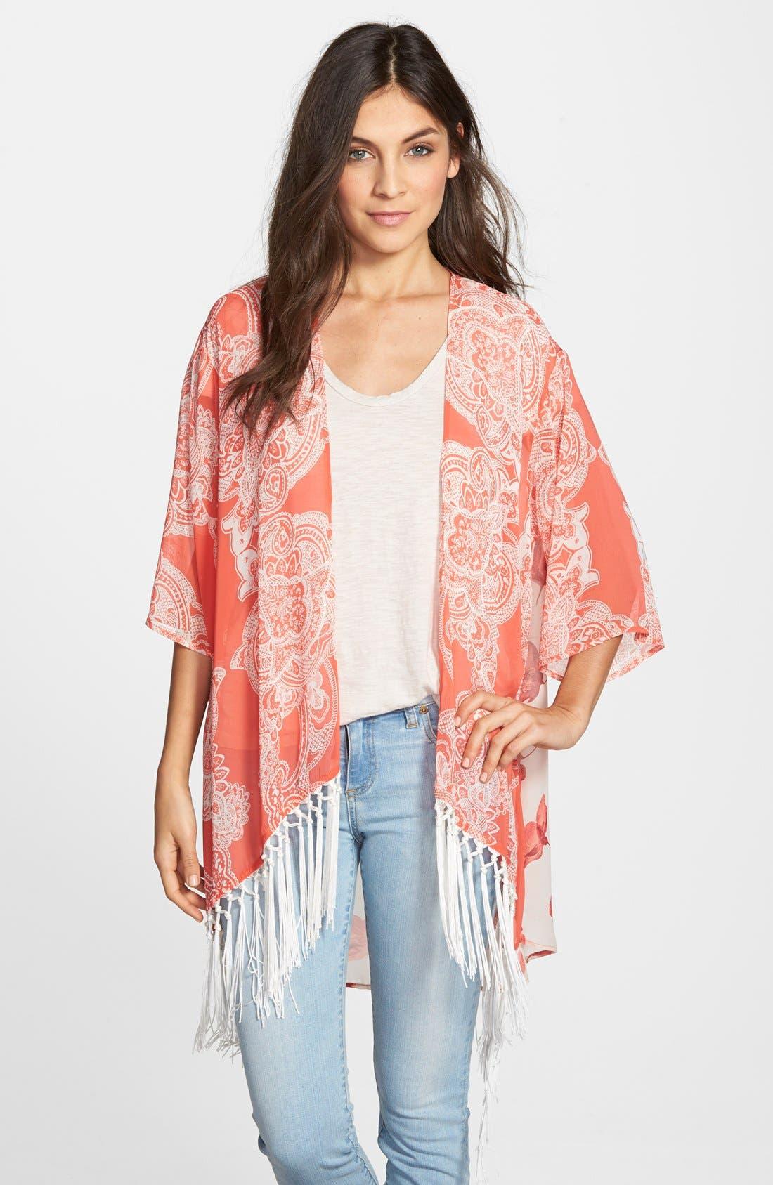 Alternate Image 1 Selected - West Kei Print Kimono Jacket
