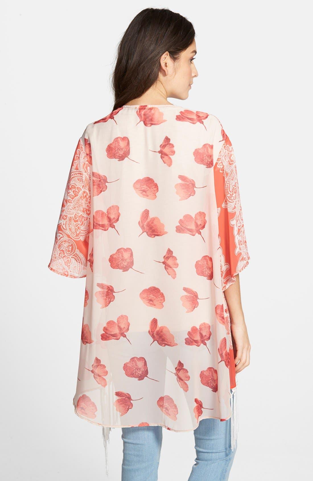 Alternate Image 2  - West Kei Print Kimono Jacket