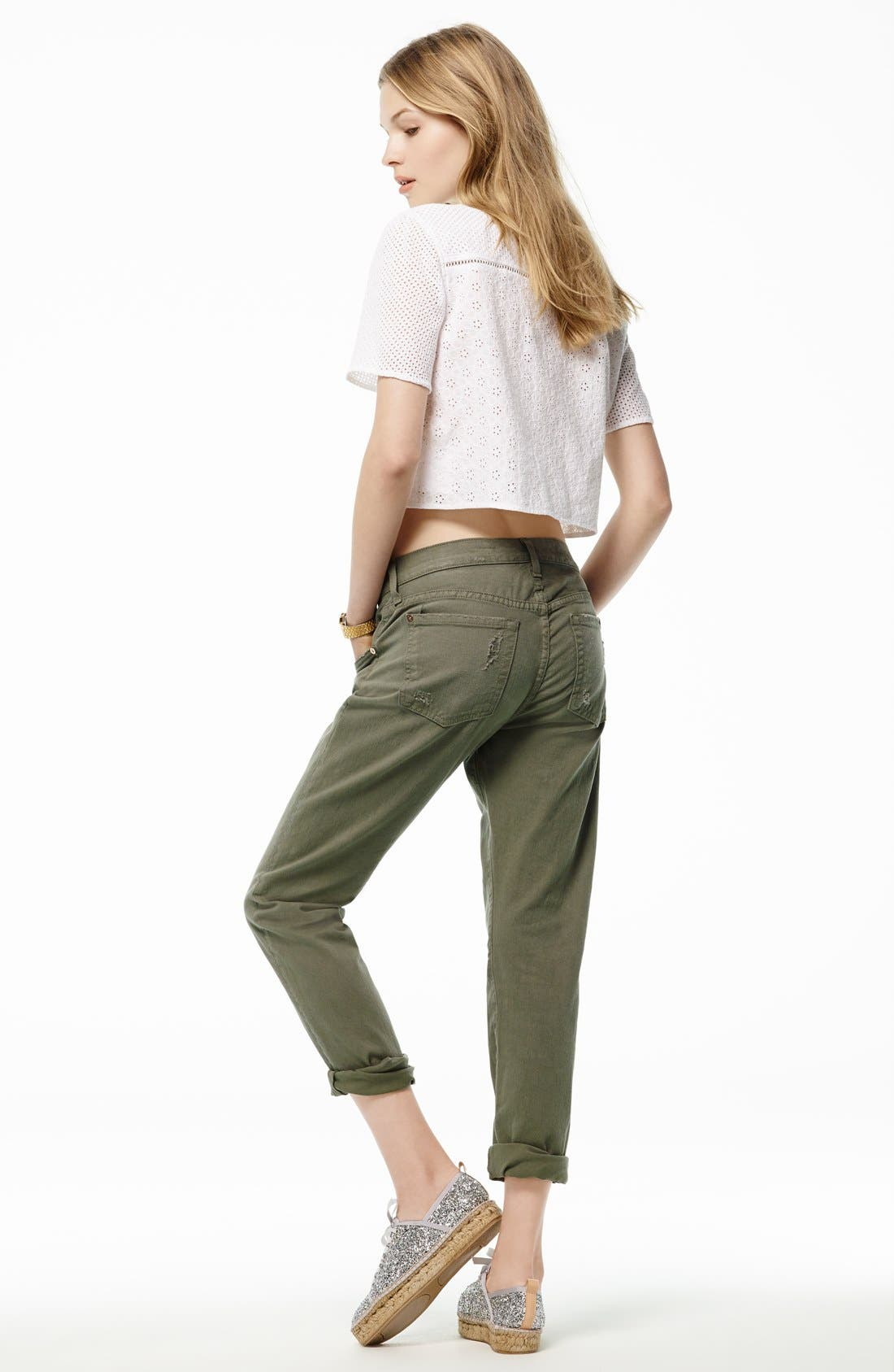 Alternate Image 4  - 7 For All Mankind® Relaxed Skinny Jeans (Fatigue)