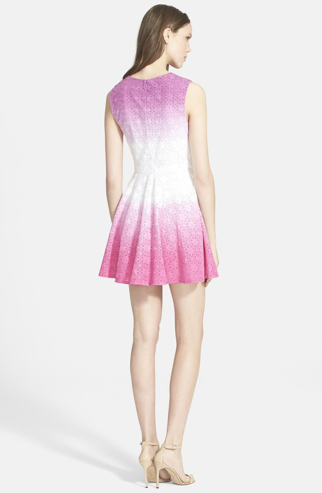 Alternate Image 2  - Diane von Furstenberg 'Jeannie' Eyelet Fit & Flare Dress