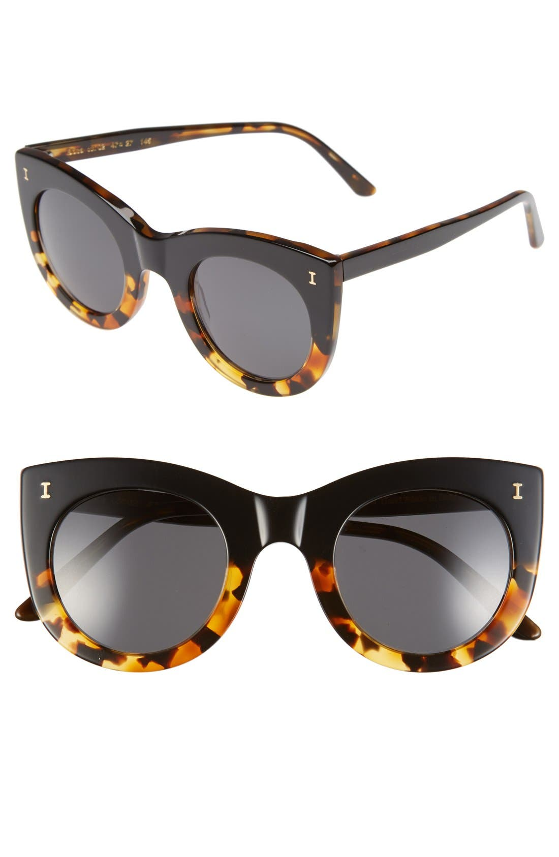Alternate Image 1 Selected - Illesteva 'Boca' 47mm Round Sunglasses