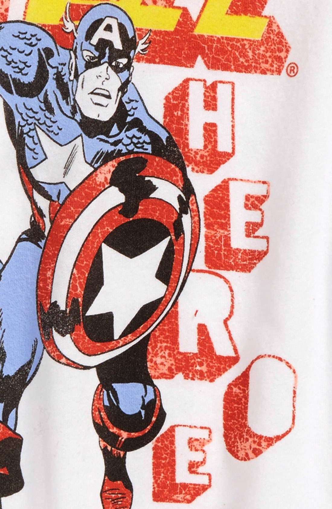 Alternate Image 2  - Junk Food 'Marvel® Heroes' Graphic T-Shirt (Toddler Boys)