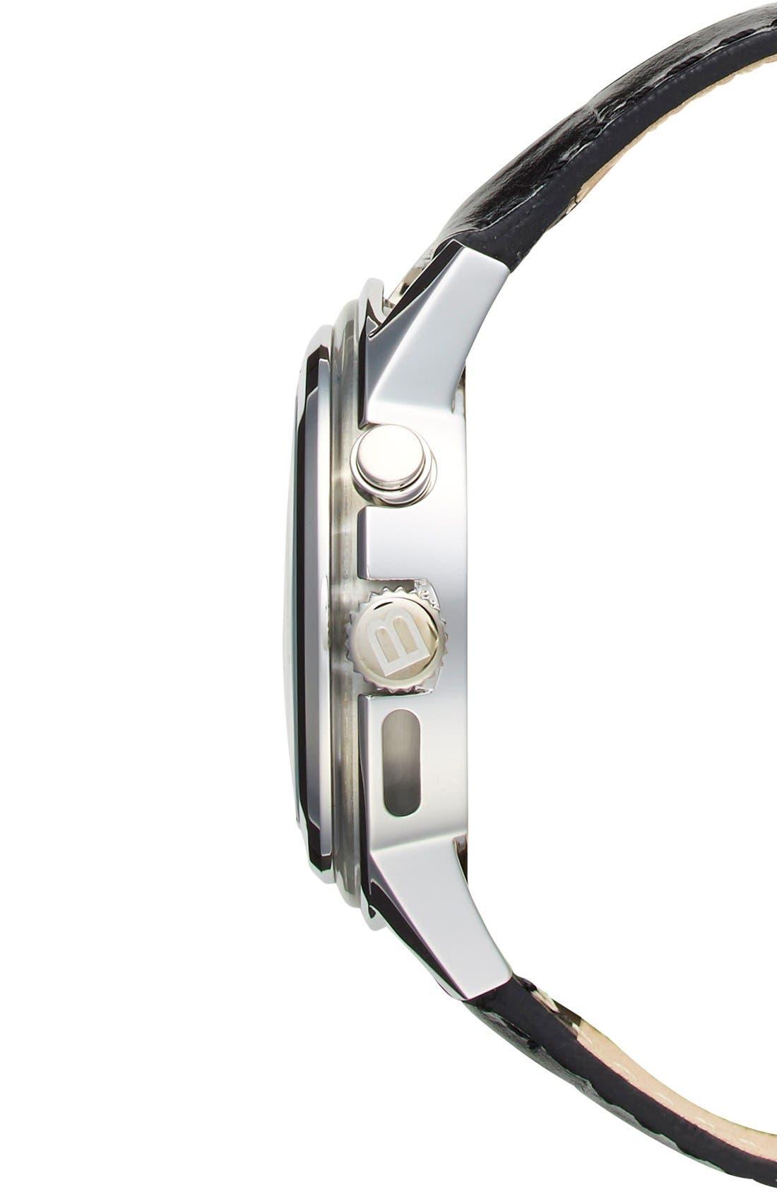 Alternate Image 3  - Breil 'Orchestra' Round Leather Strap Watch, 45mm
