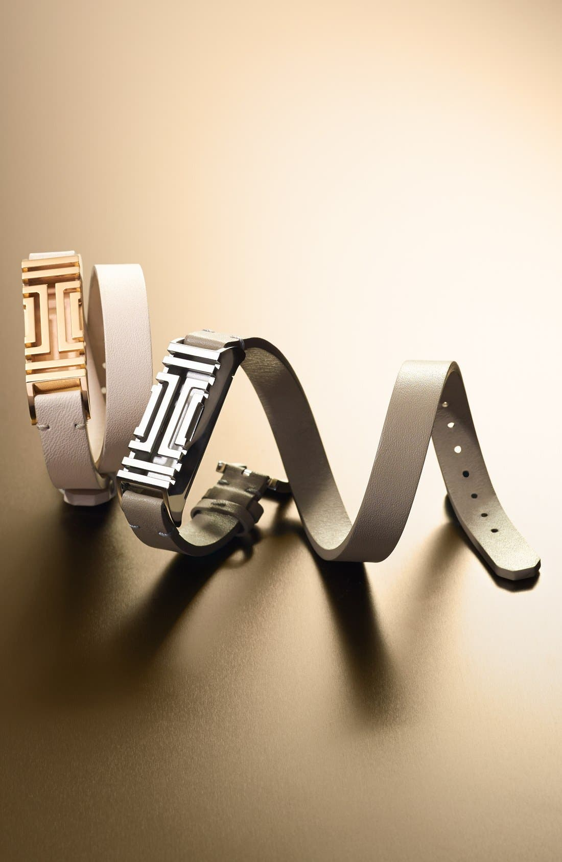 Alternate Image 2  - Tory Burch for Fitbit® Leather Wrap Bracelet