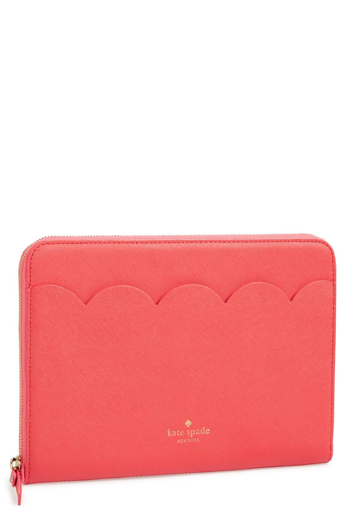 Alternate Image 1 Selected - kate spade new york scalloped iPad Air sleeve