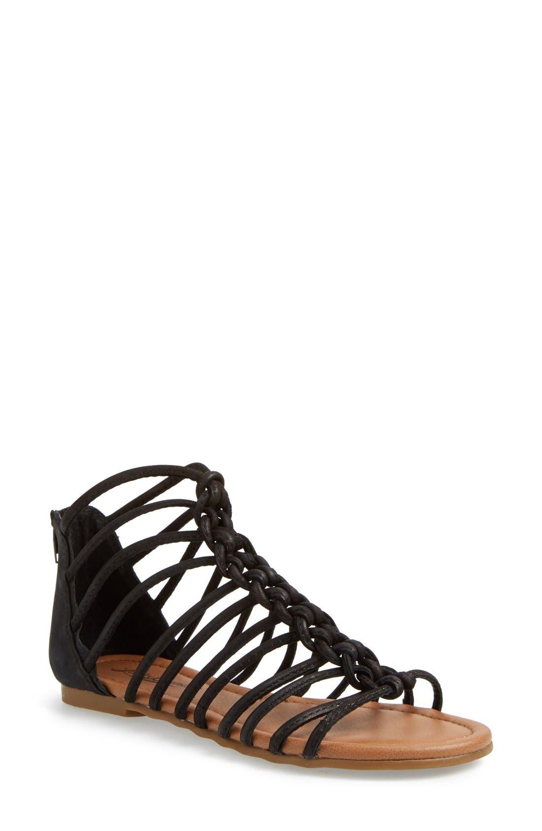 Alternate Image 1 Selected - Lucky Brand 'Casmett' Leather Caged Sandal (Women)