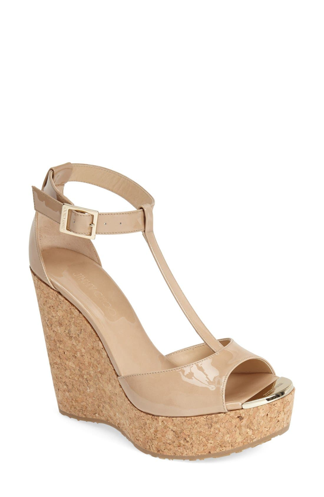 Alternate Image 1 Selected - Jimmy Choo 'Pela' Cork Wedge Sandal (Women)