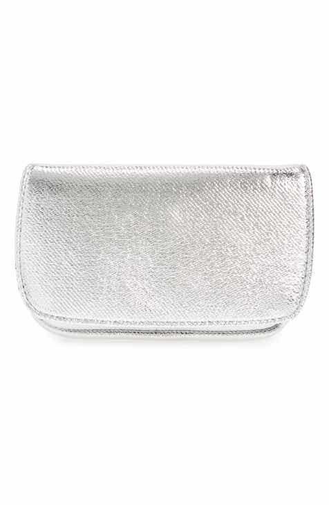 노드스트롬 네오프렌 테크 악세서리 케이스 실버 NORDSTROM Crackle Neoprene Tech Case,silver