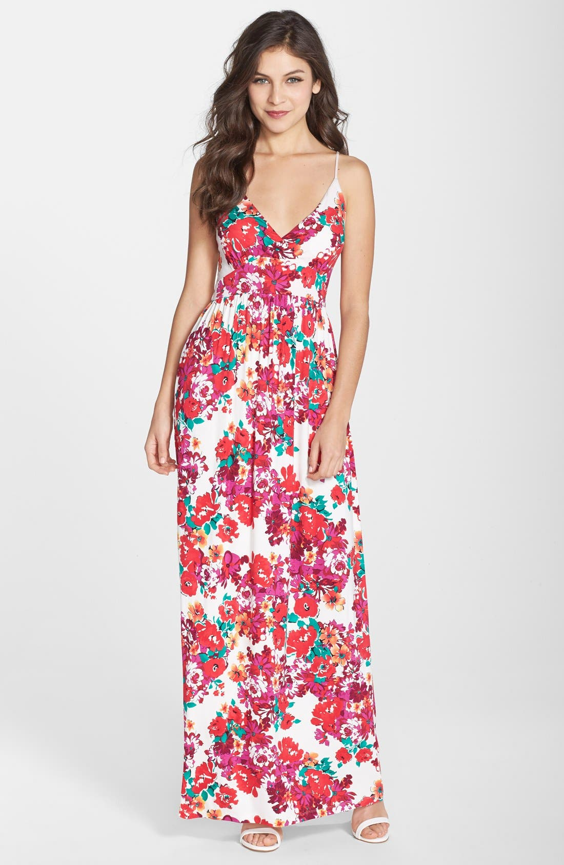 Main Image - Felicity & Coco Floral Print Jersey Maxi Dress (Regular & Petite) (Nordstrom Exclusive)