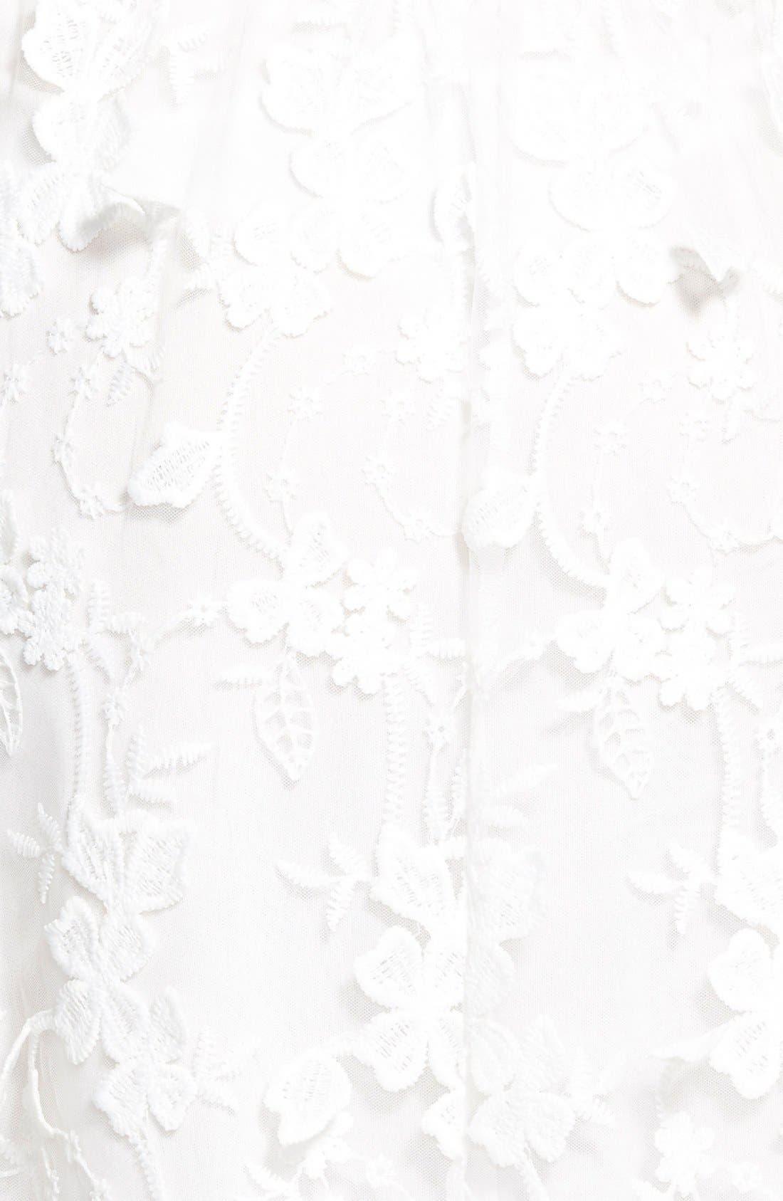 Alternate Image 3  - Leola Couture Floral Embroidered Skater Dress
