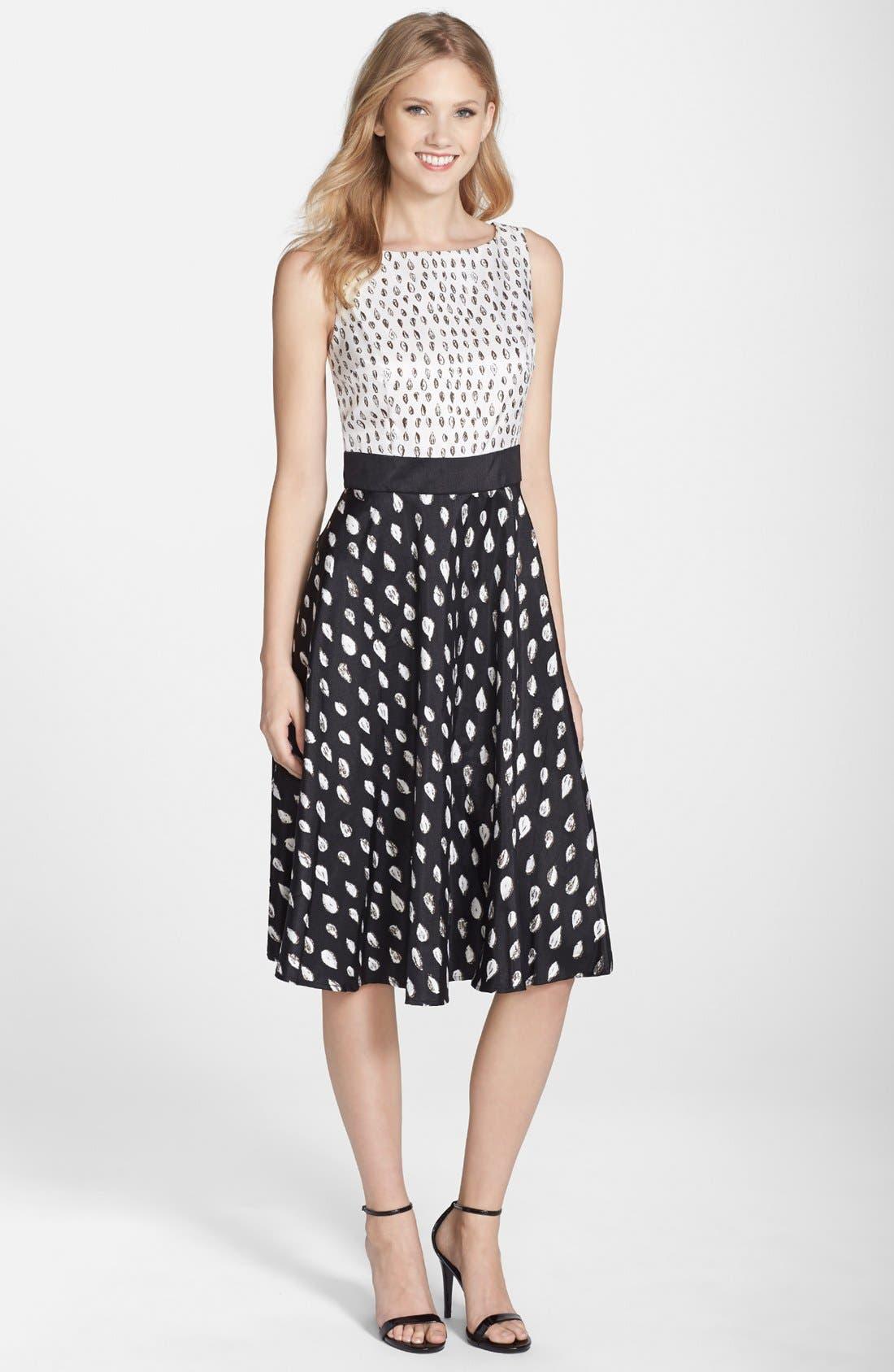 Alternate Image 1 Selected - Gabby Skye Print Shantung Fit & Flare Dress