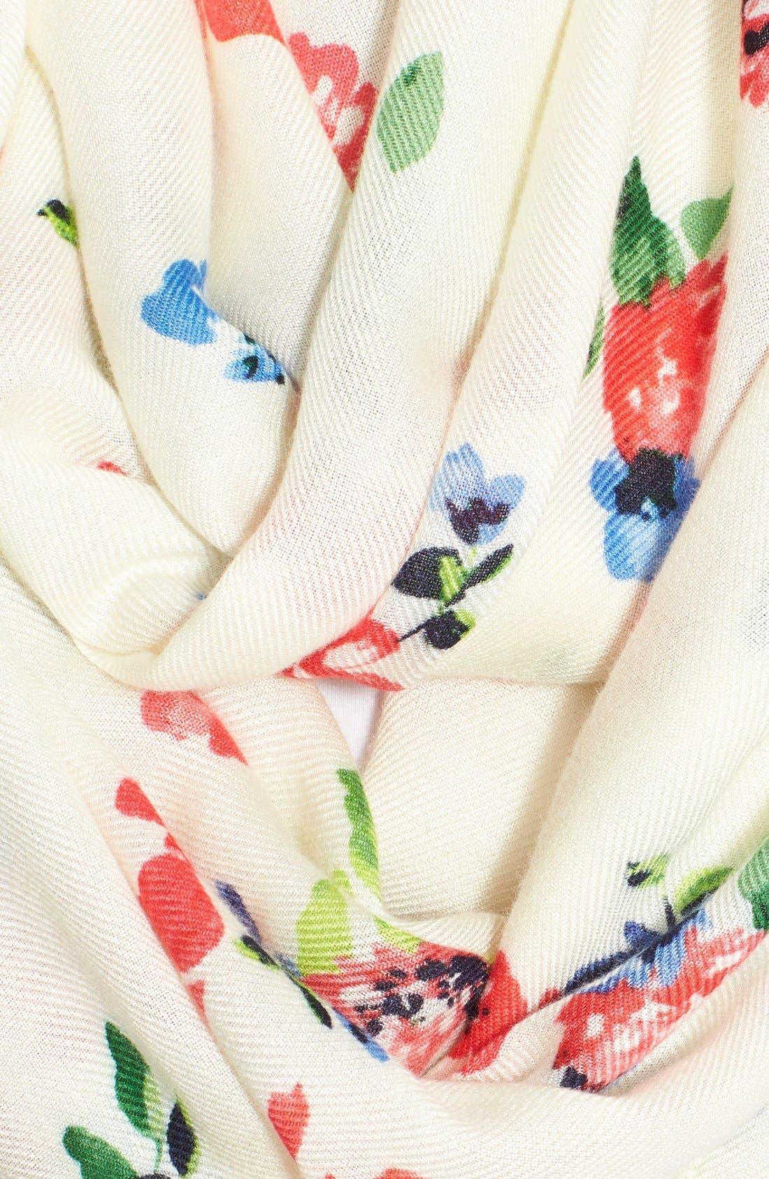 Alternate Image 4  - kate spade new york 'spring garden' infinity scarf