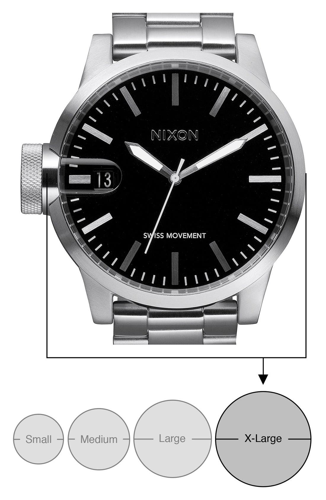 Alternate Image 4  - Nixon 'The Chronicle' Stainless Steel Watch, 48mm