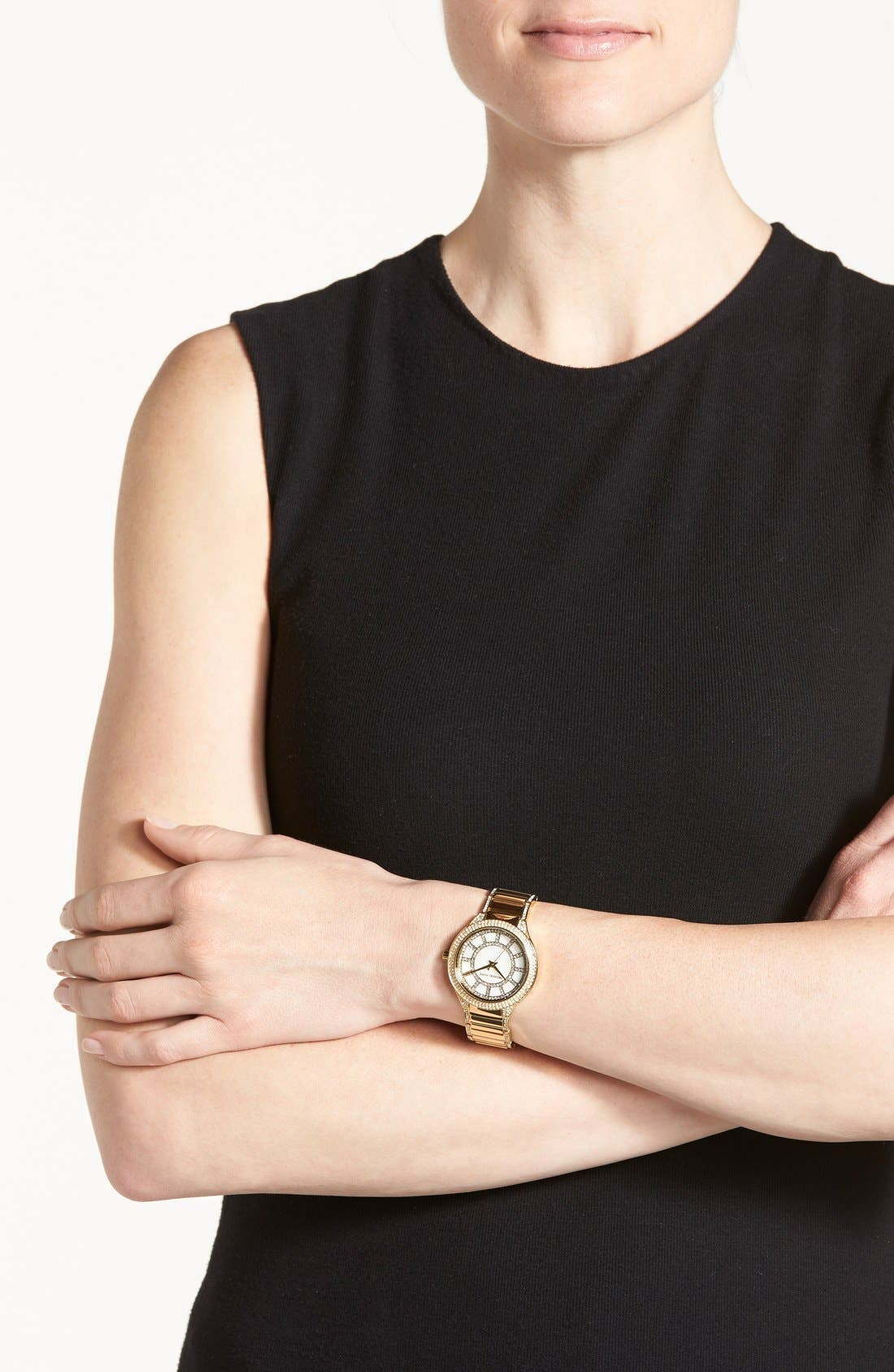 Alternate Image 3  - Michael Kors 'Kerry' Crystal Accent Bracelet Watch, 38mm