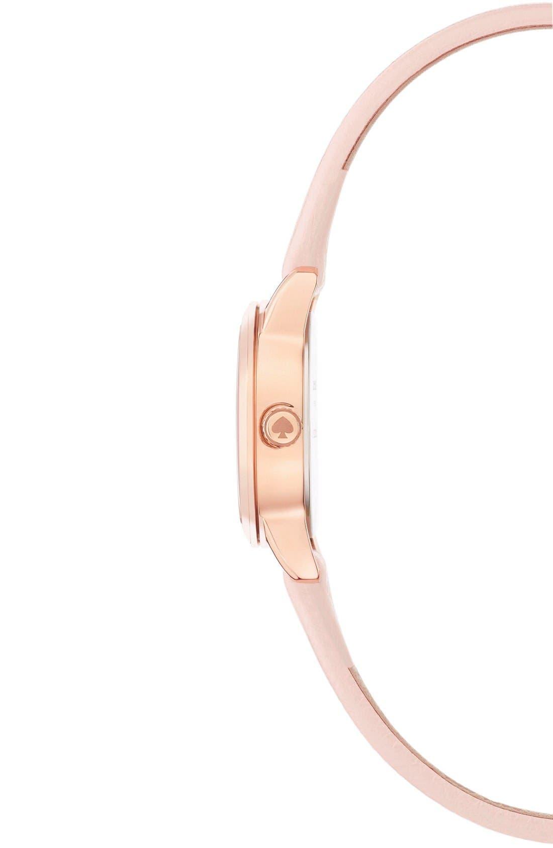 Alternate Image 3  - kate spade new york 'tiny metro' leather strap watch, 20mm